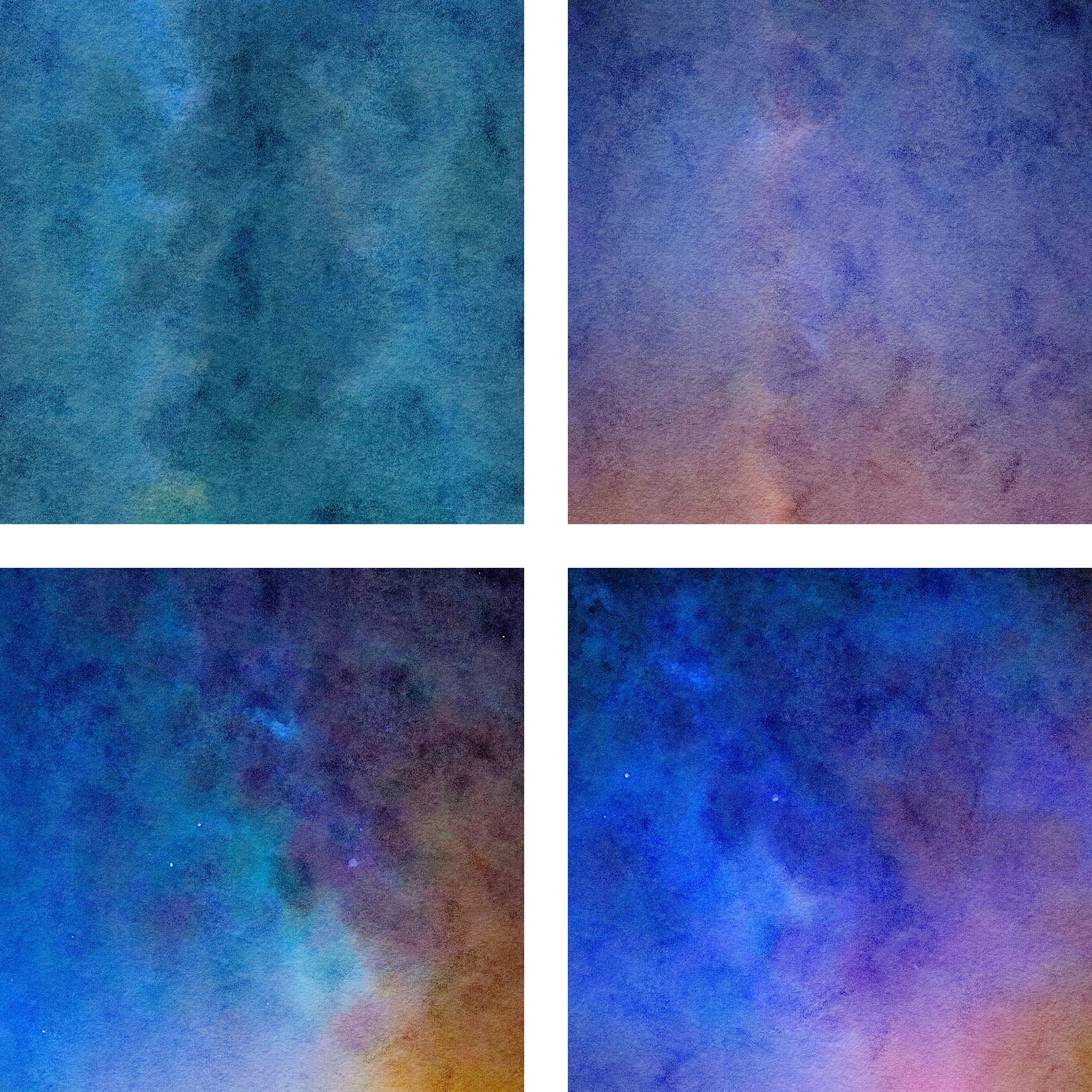 Watercolor Nebula Digital Paper example image 2