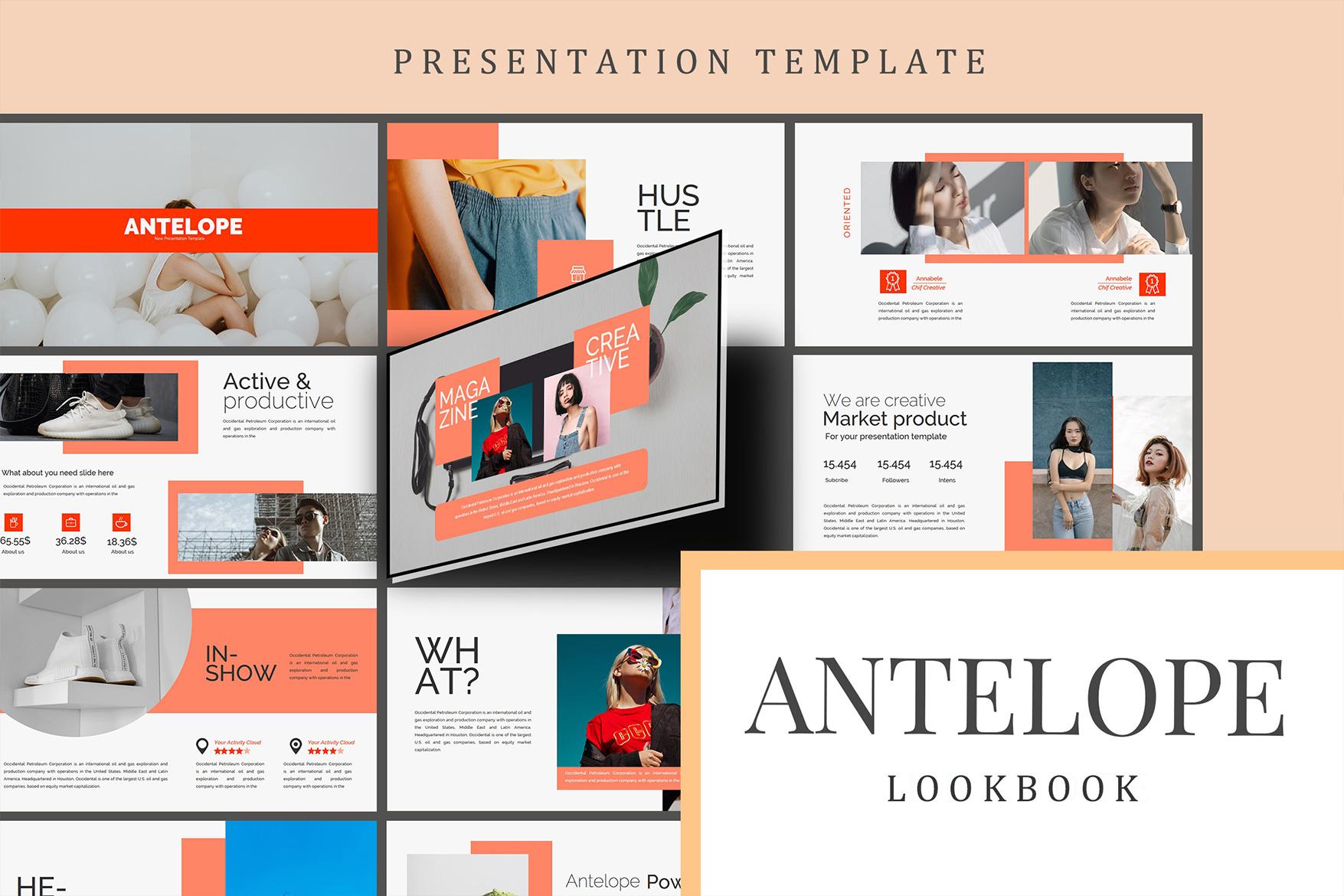 Antelope Lookbook Keynote Template example image 5
