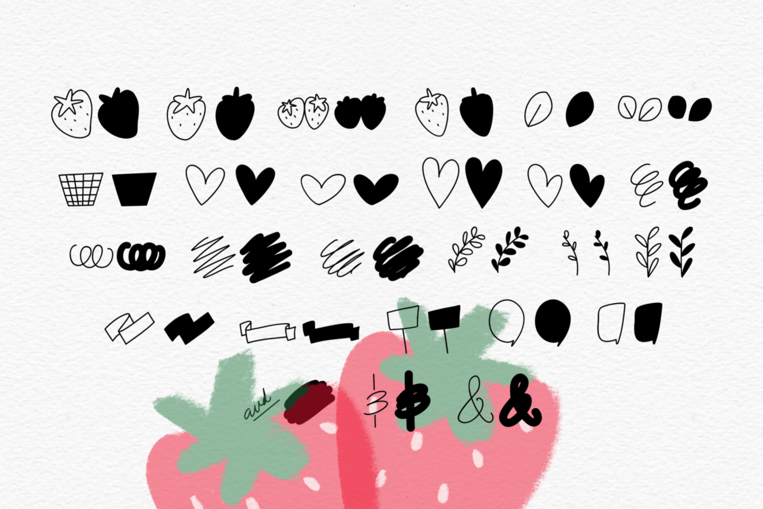 Berry Harvest Font & Extras example image 4