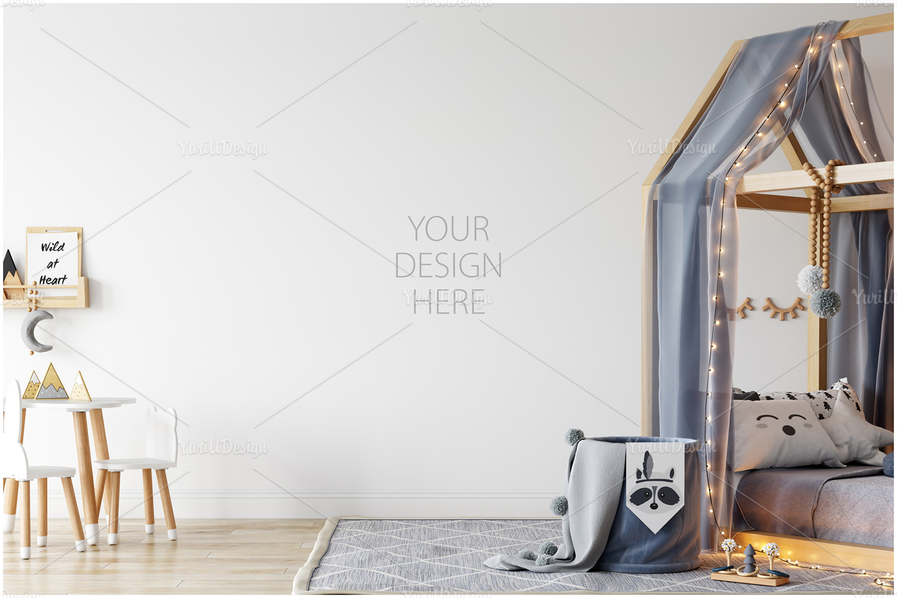 Kids Frames & Wall Mockup Bundle - 5 example image 12