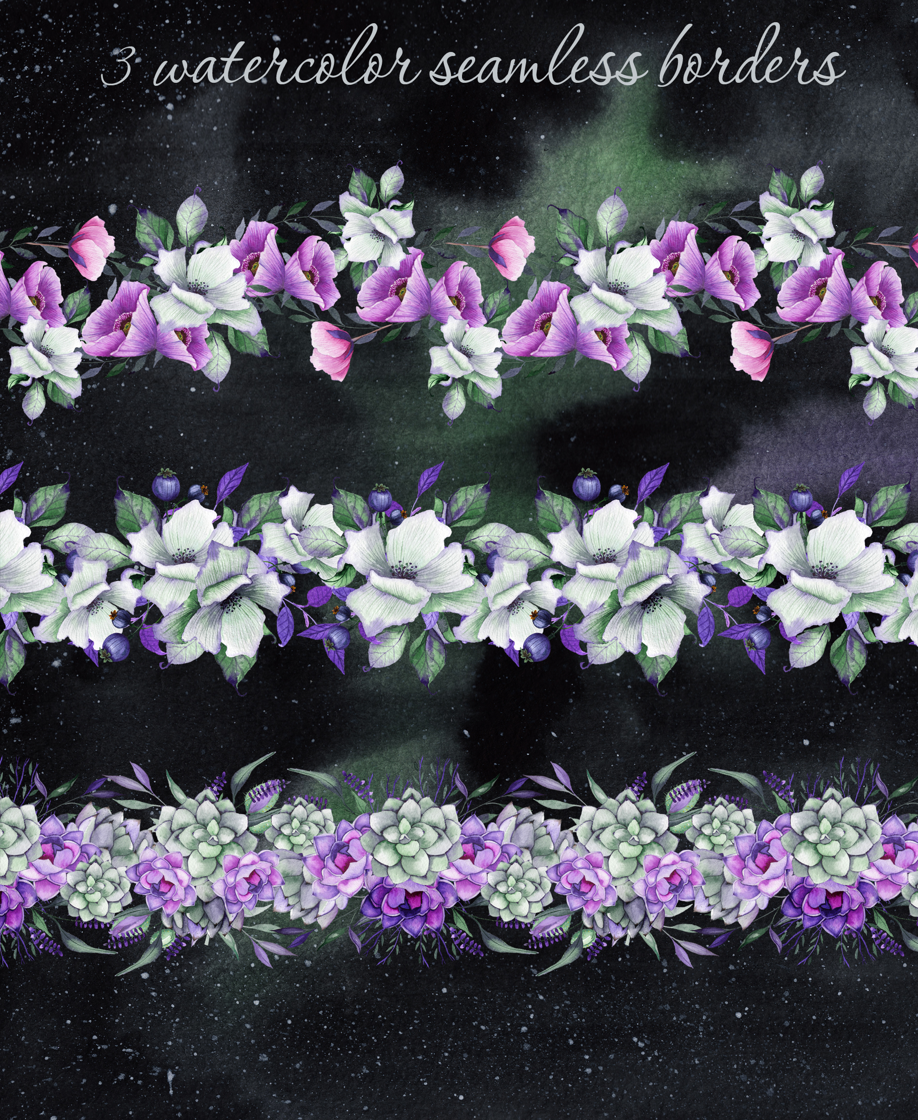 Floral purple green wedding collection example image 6