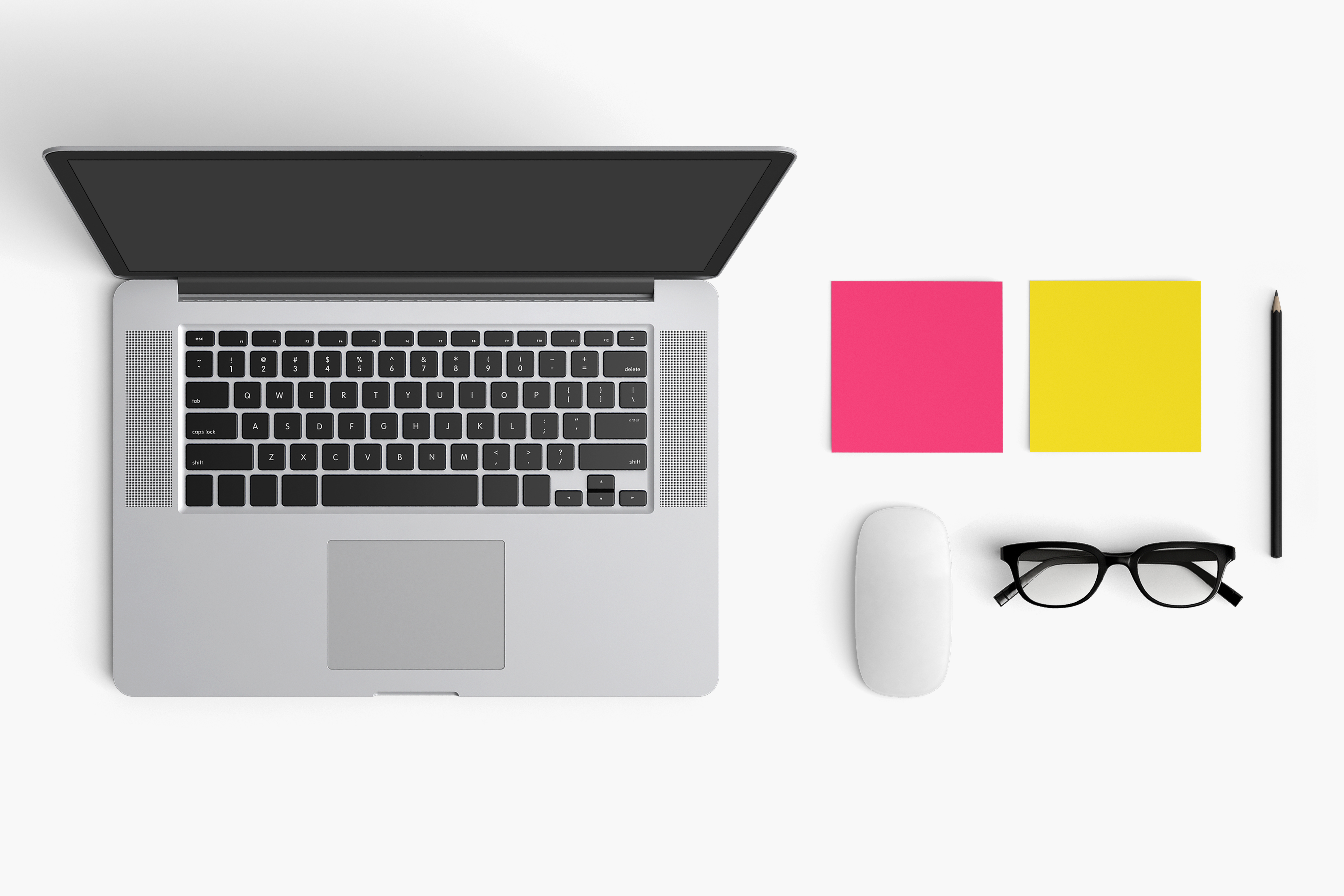 Modern workplace. Top view. Flat lay style. 9 example image 1