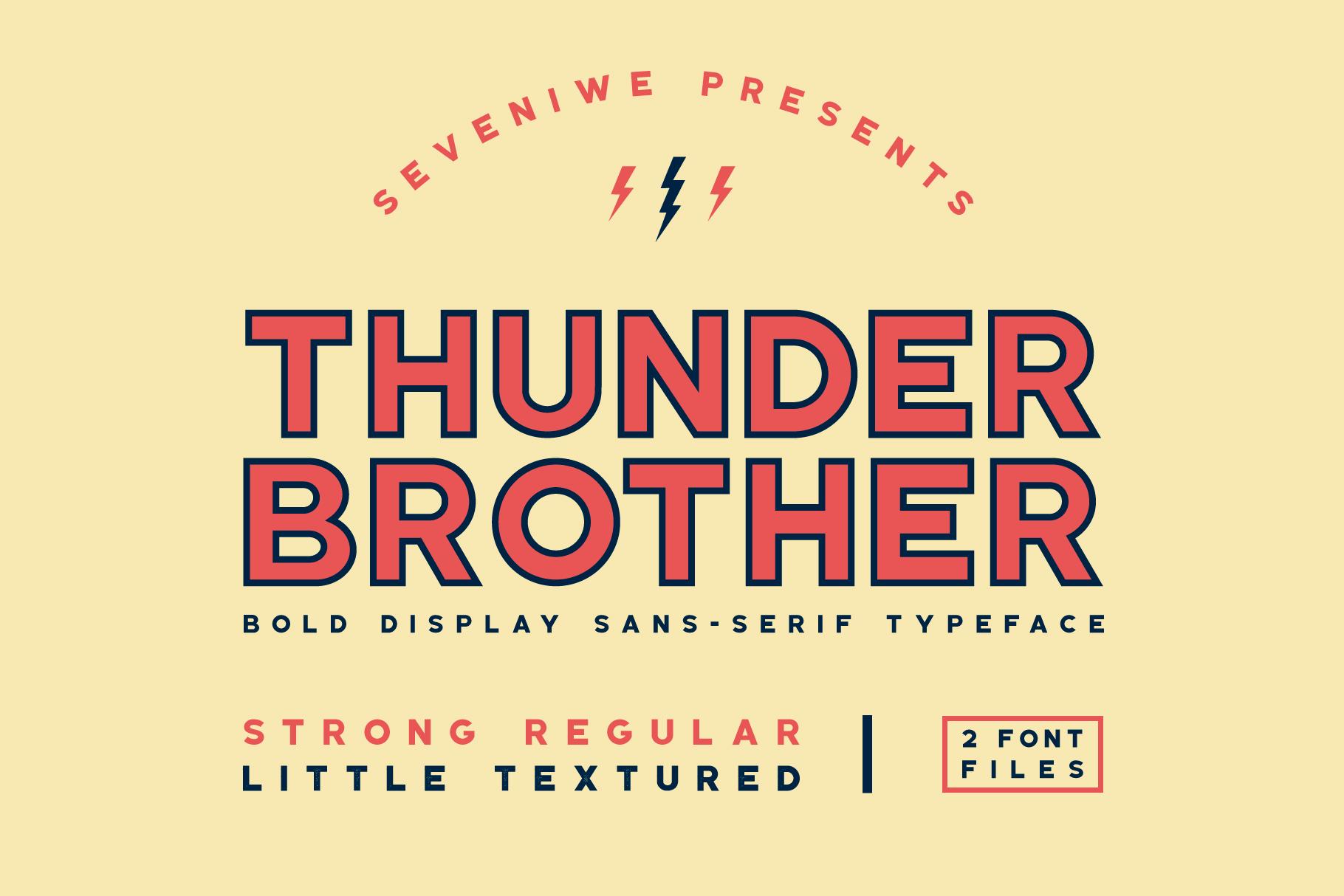 Thunderbrother - Bold Sans-serif Font example image 1