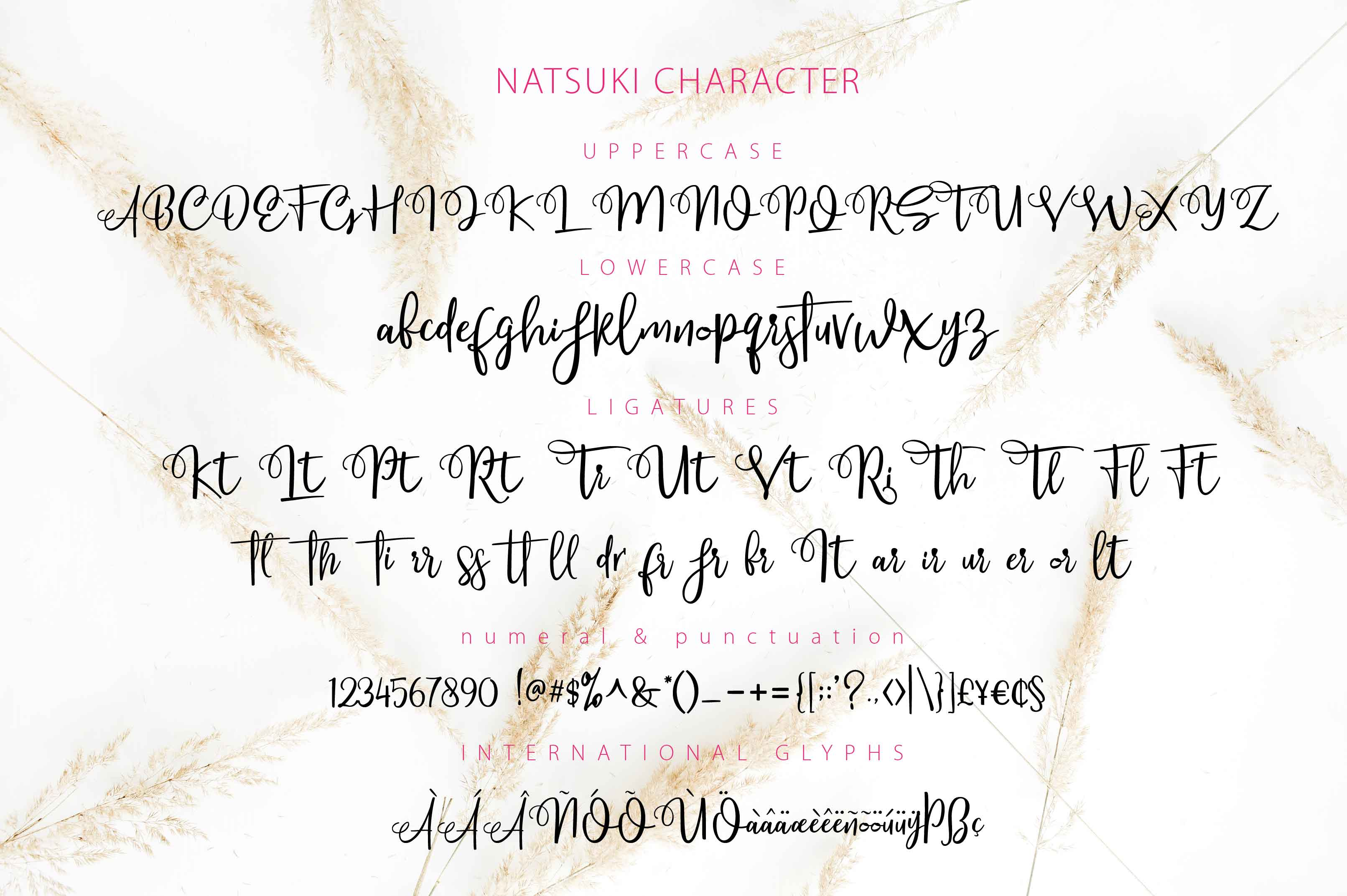 NATSUKI - Handlettered Script example image 4