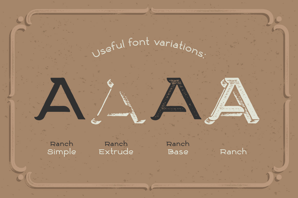 Ranch vintage font & illustrations example image 2