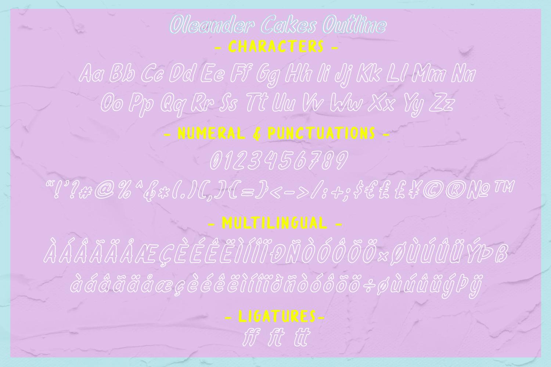 Oleander Cakes - Sweet Handmade Font example image 10