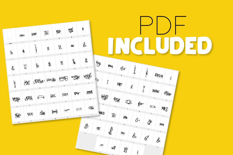 Catchwords & Ampersands - A Dingbat Font example image 2