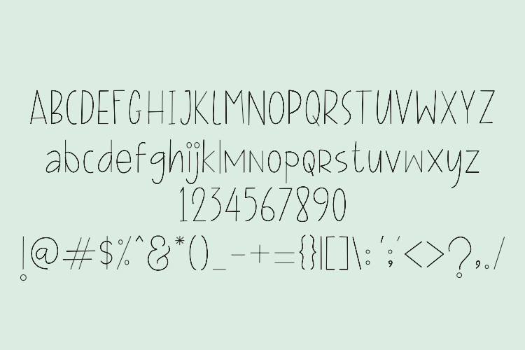 FILLINE Single line and hair line fonts example image 2