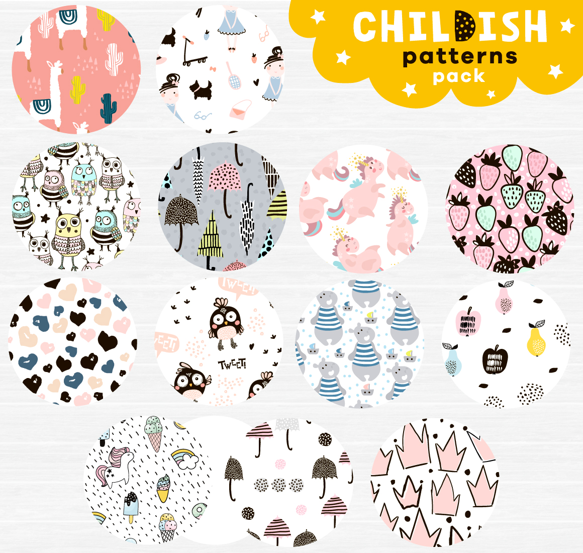 Childish patterns pack vol. 2 example image 4