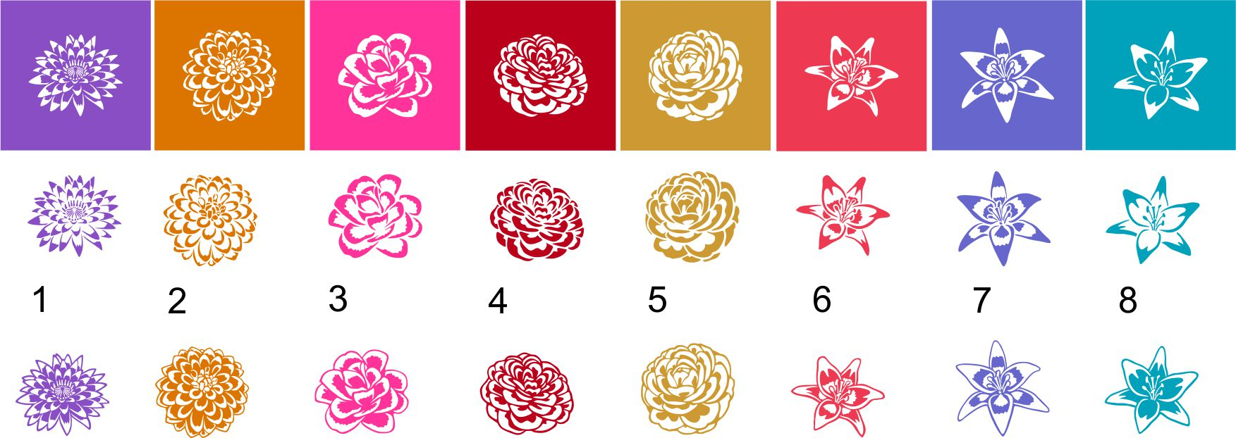 Flowers and Stencil SVG files for Silhouette and Cricut. example image 3