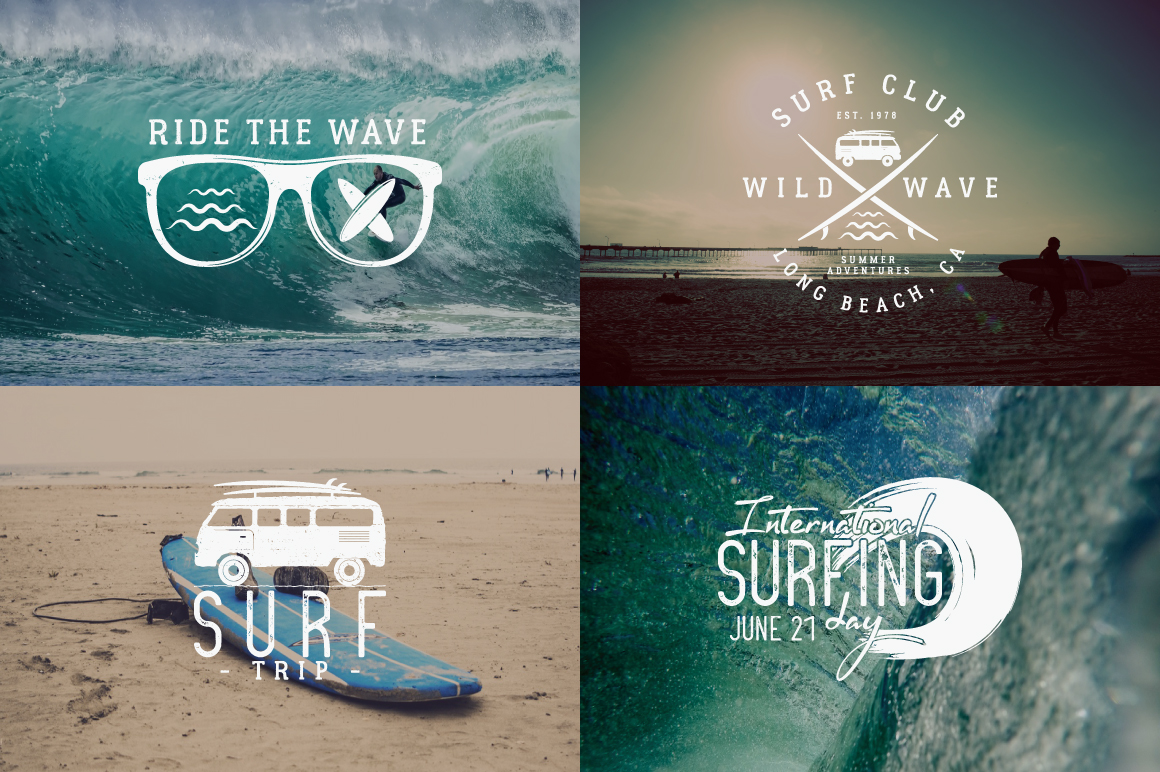 Summer Surfing Badges & Elements example image 3