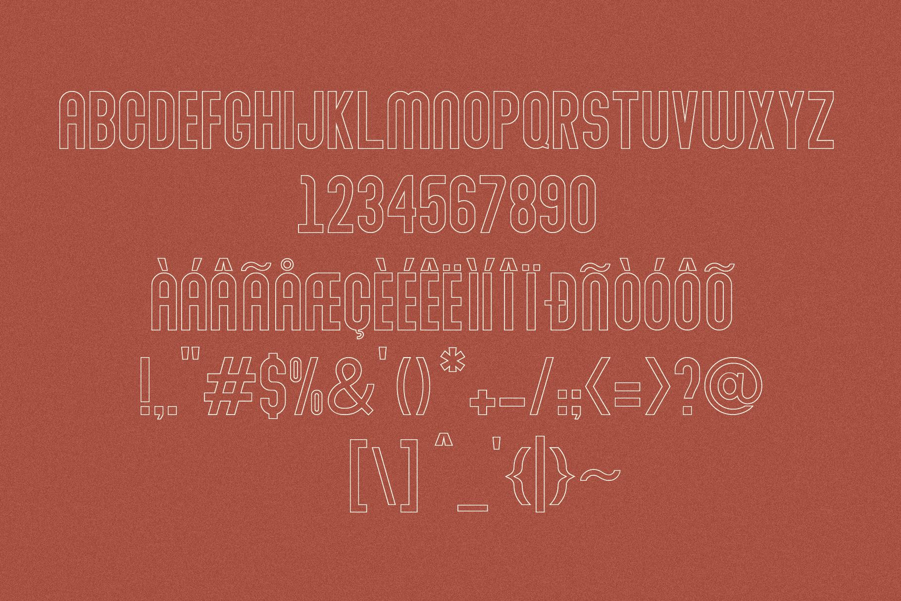 Abraham Font Family 7 Style Fonts example image 8