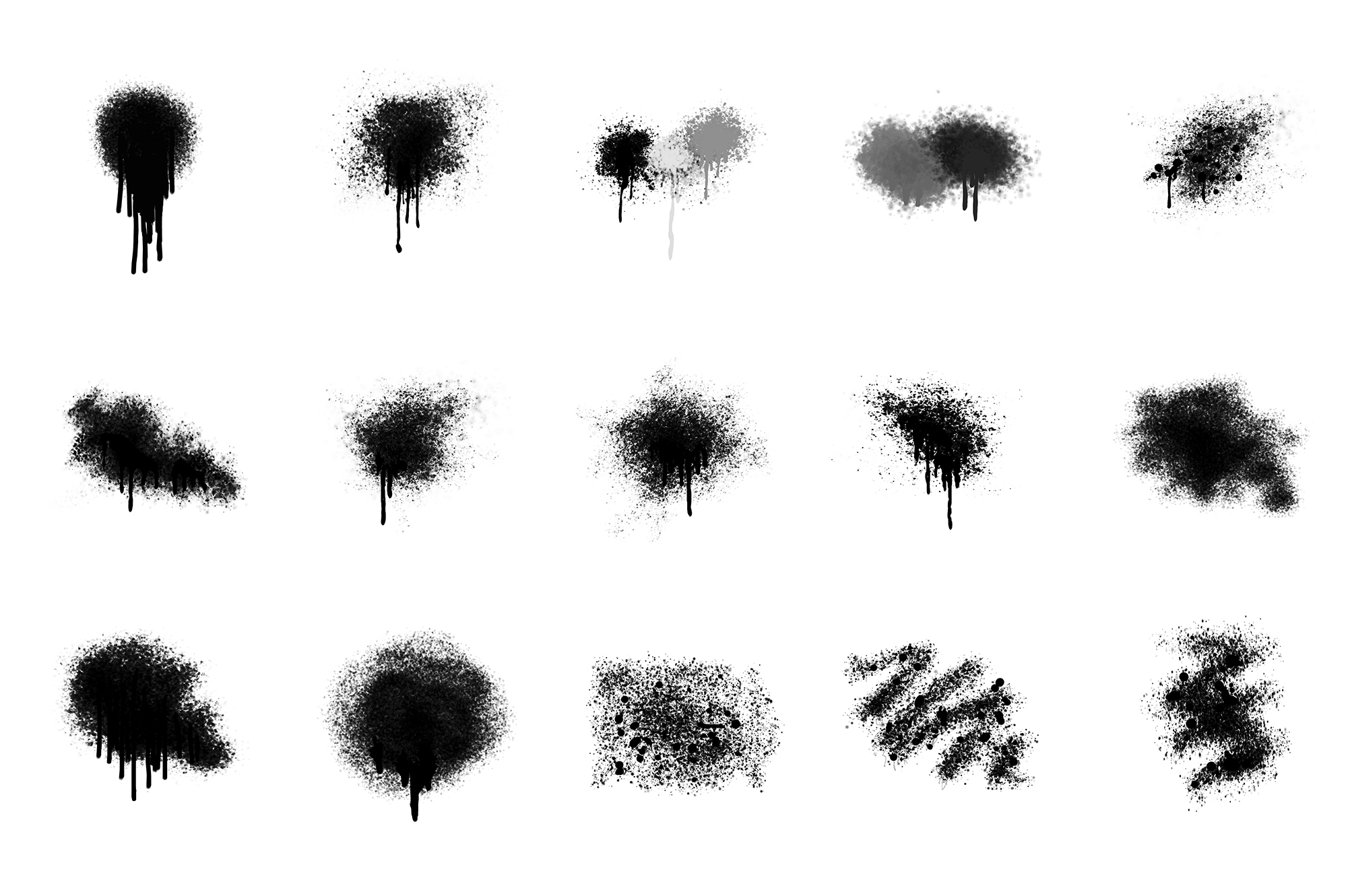 Spray Paint Textures PNG 15 Elements example image 1