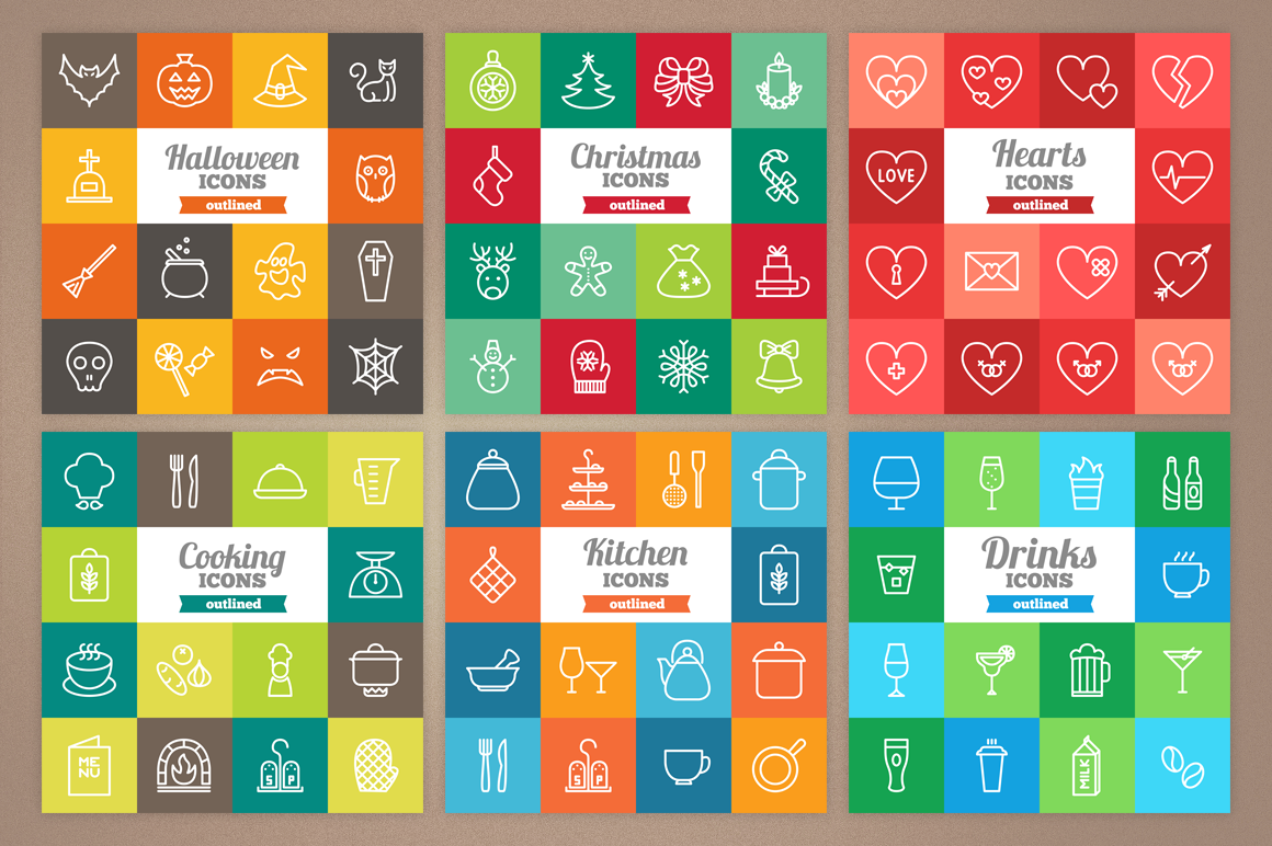 83 Off - Outlined Icons Big Bundle example image 6