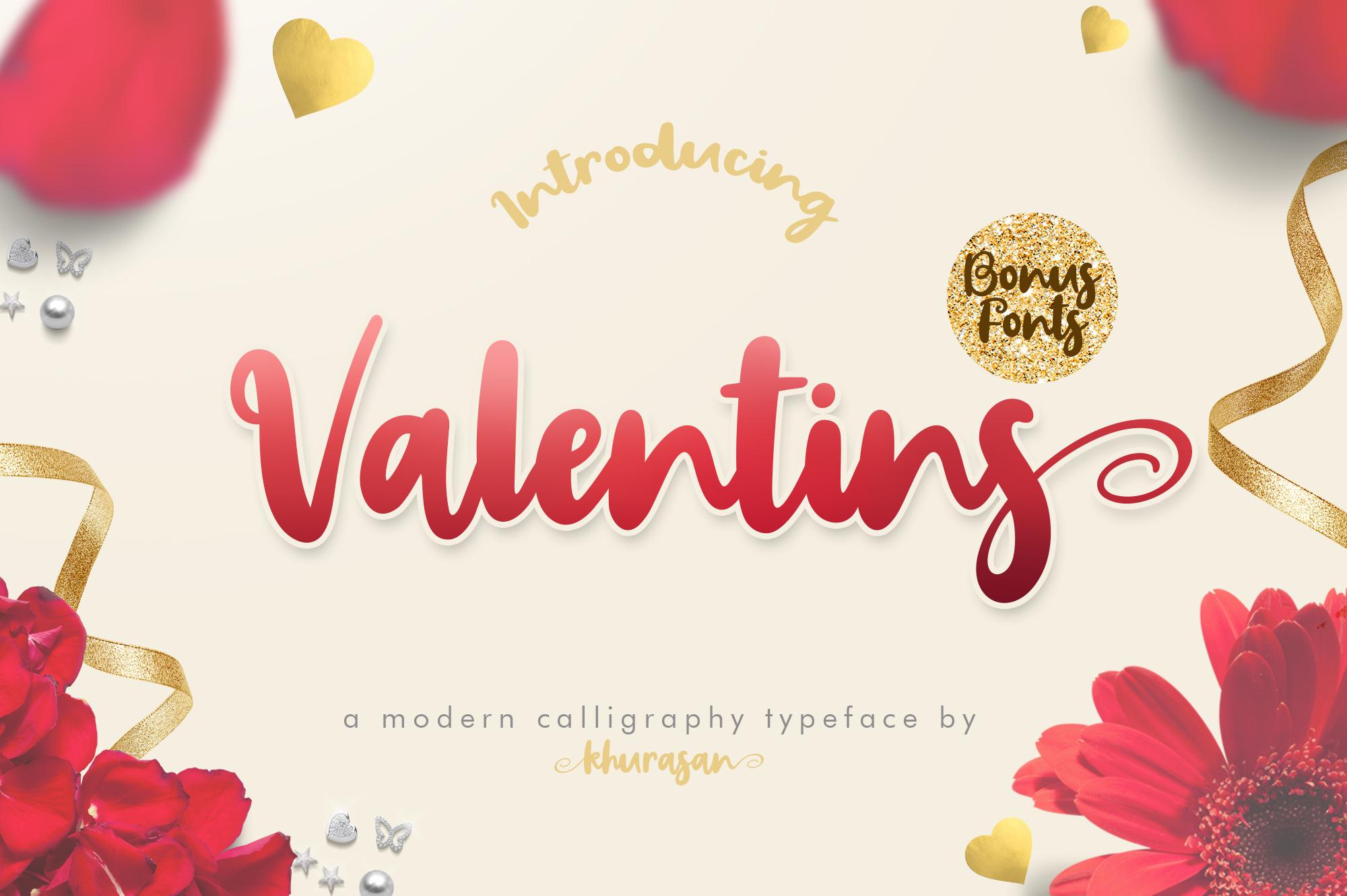 Valentins Plus Bonus 2 Font example image 1