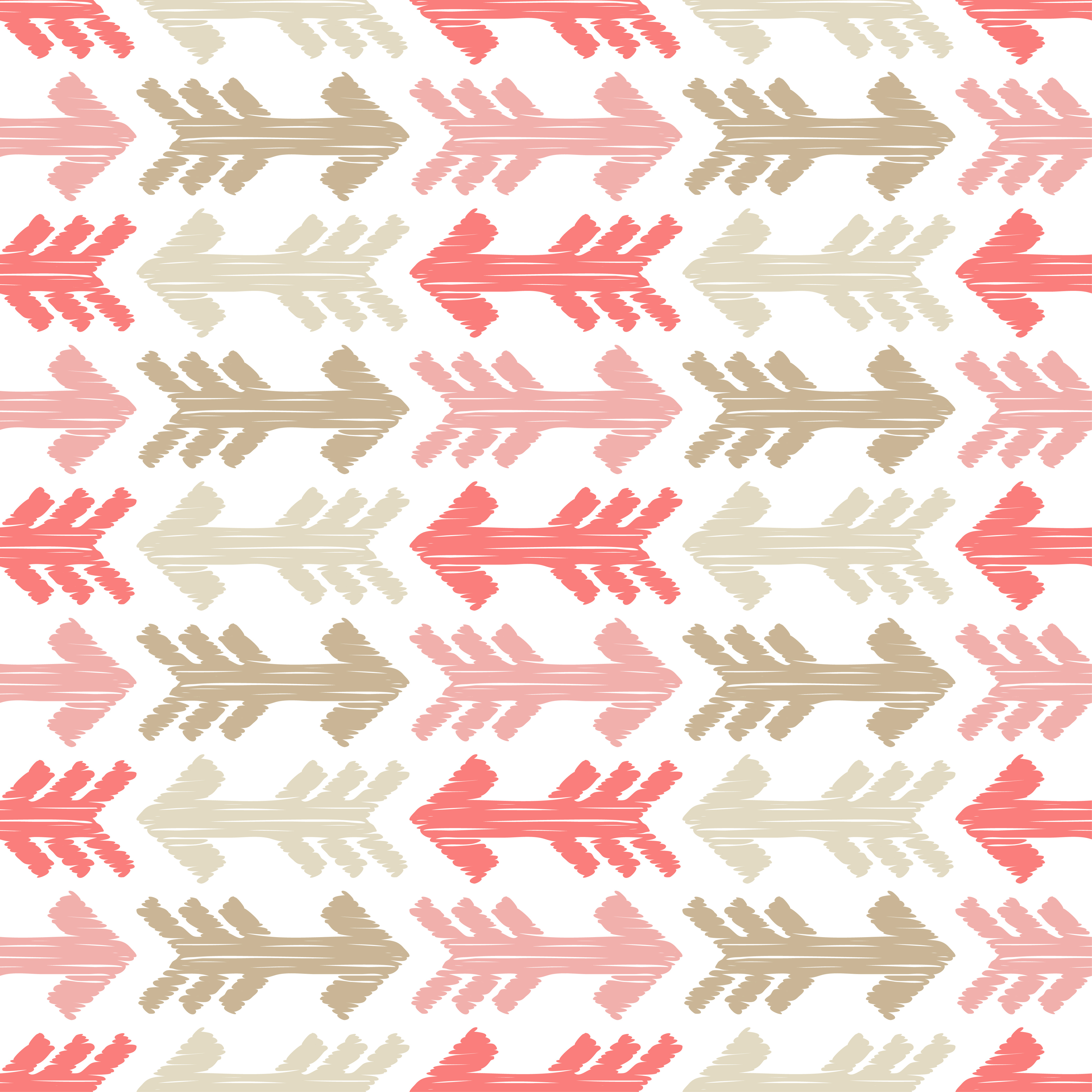 6 Ethnic boho seamless pattern. Arrows scribble texture.  example image 7