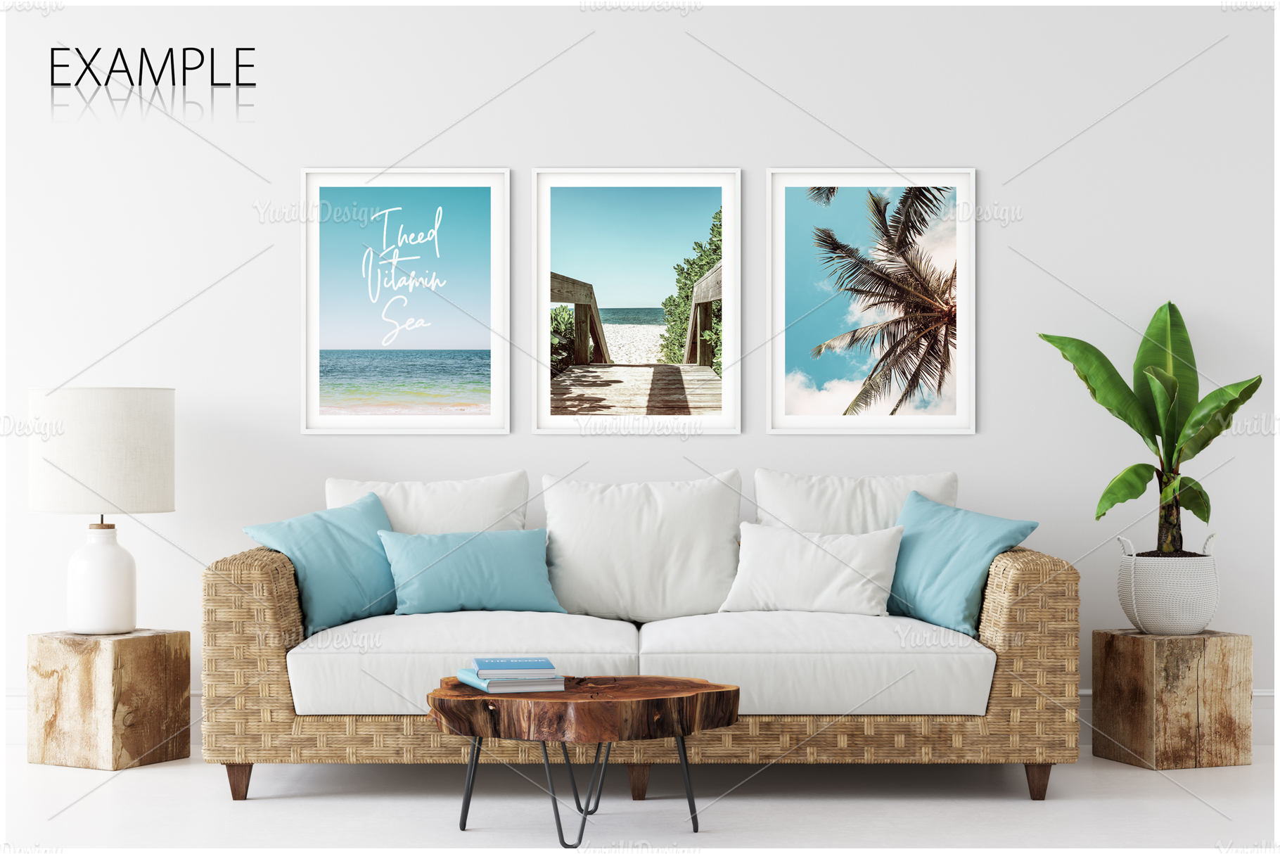 Frames & Walls Coastal Mockups Bundle example image 14