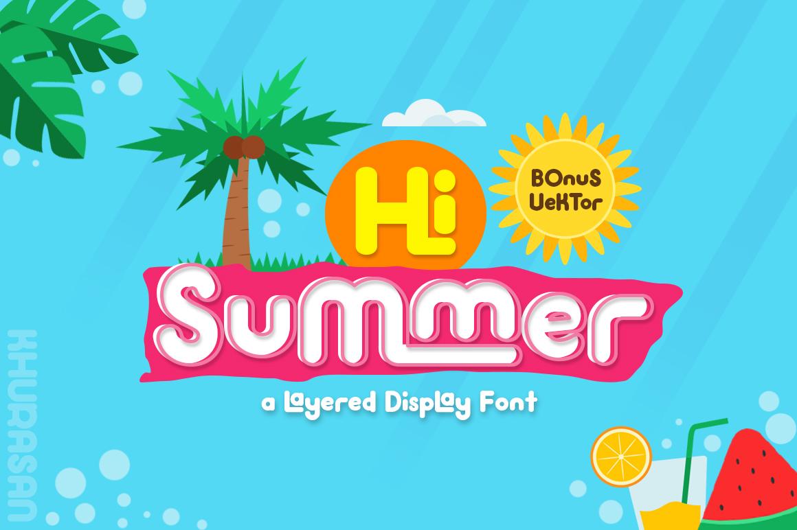 Hi Summer Layered Font example image 1