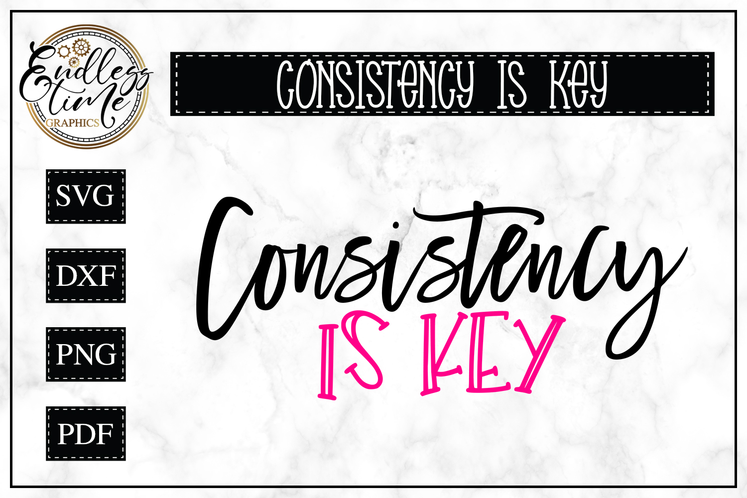 Consistency is Key SVG - A Motivational SVG example image 1