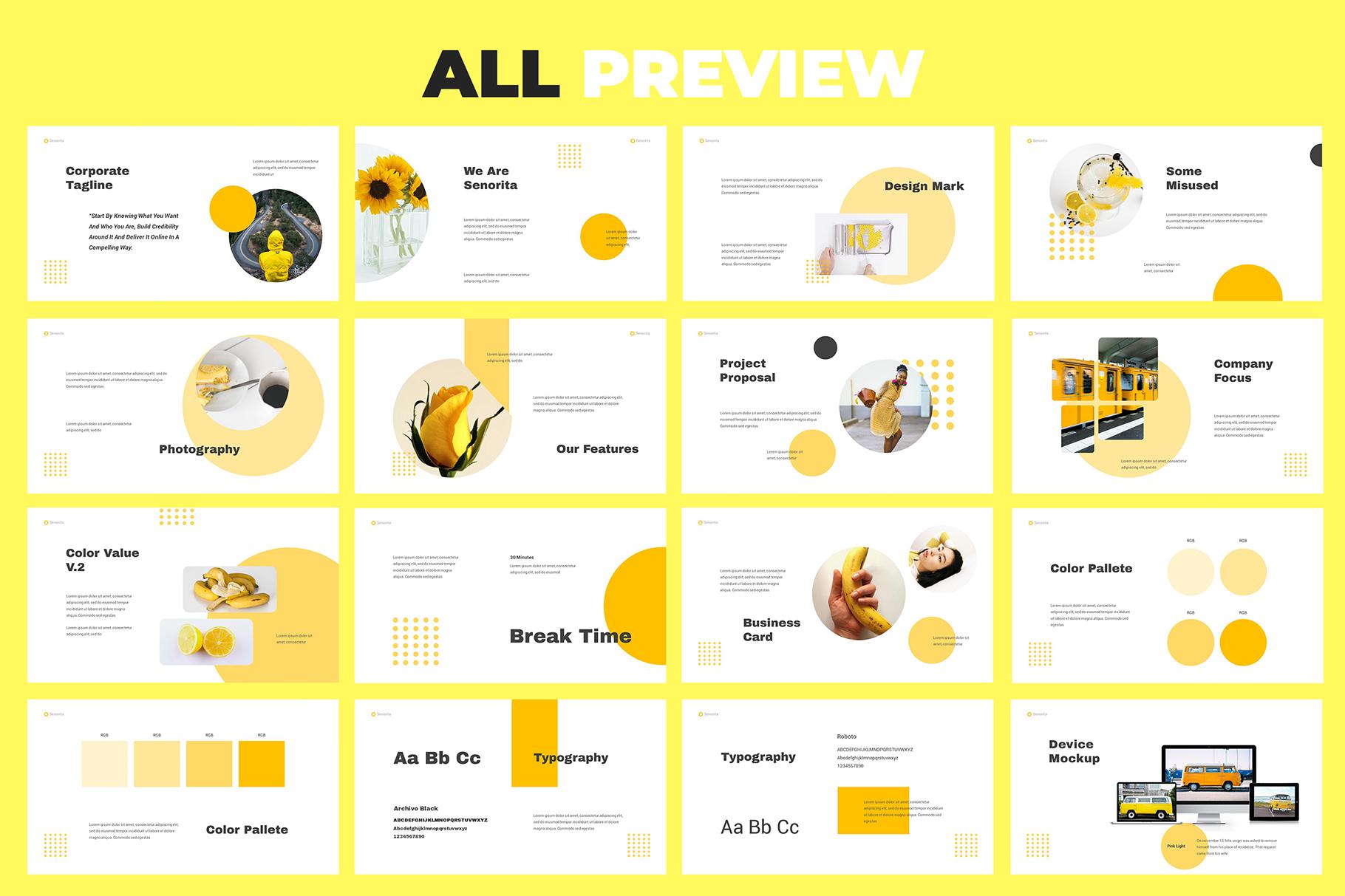 Senorita Brand Guideline Powerpoint example image 6