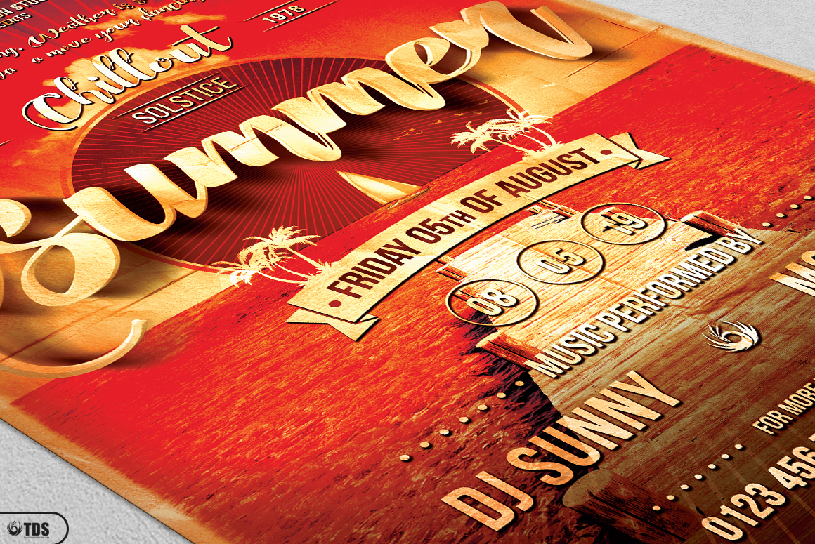 Summer Lounge Flyer Bundle example image 10
