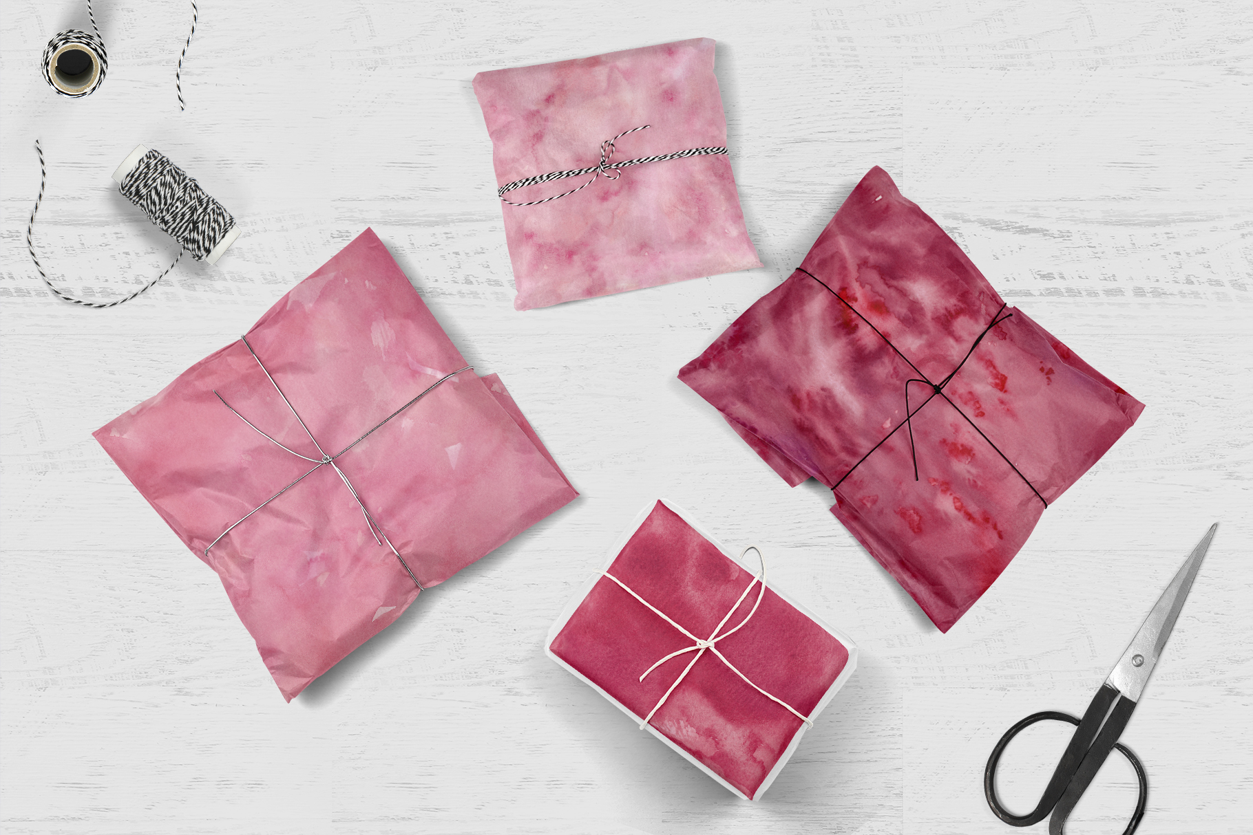 15 Huge Seamless Pink & Grey Watercolor Textures example image 9