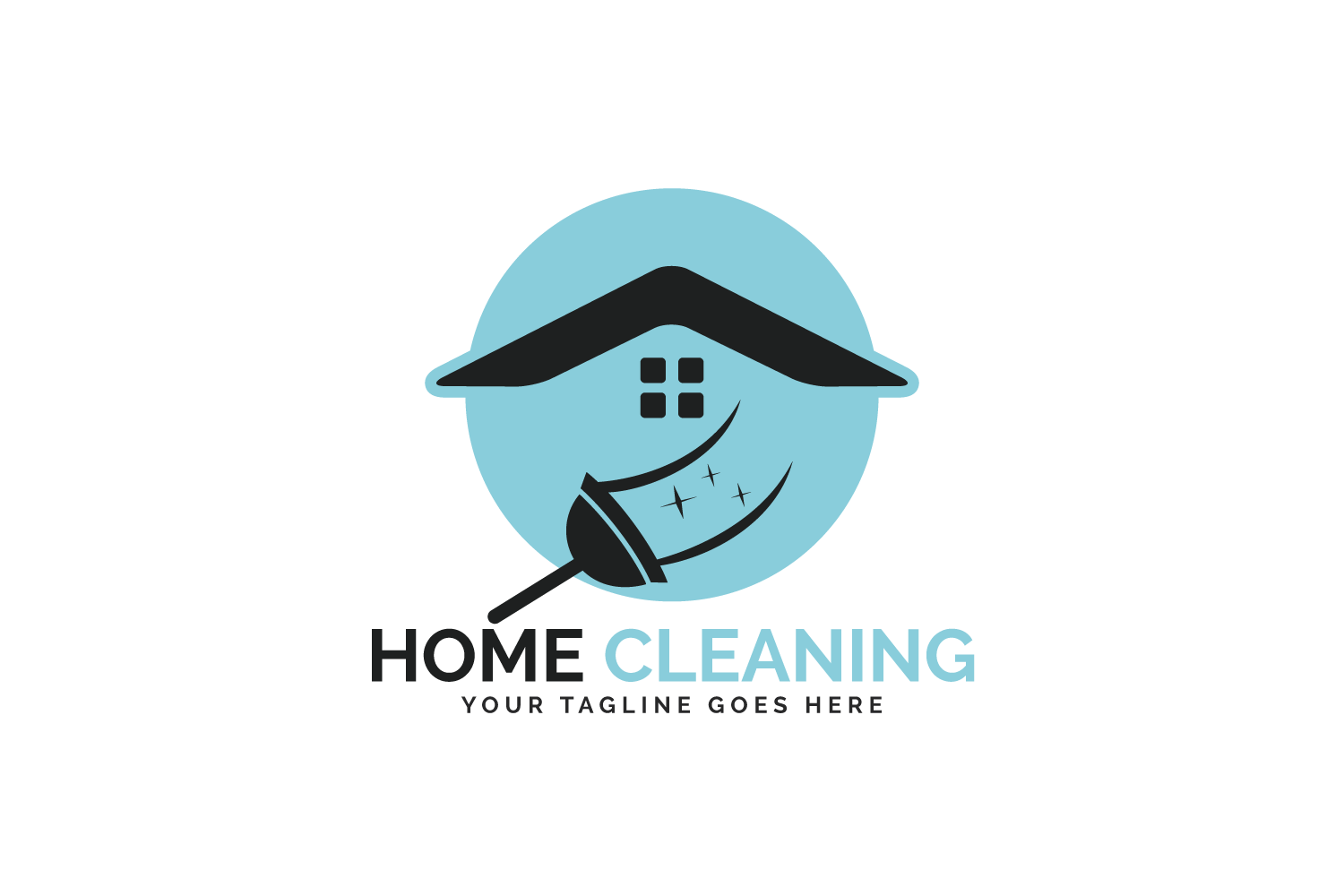 Home Cleaning Vector Logo Design. example image 2