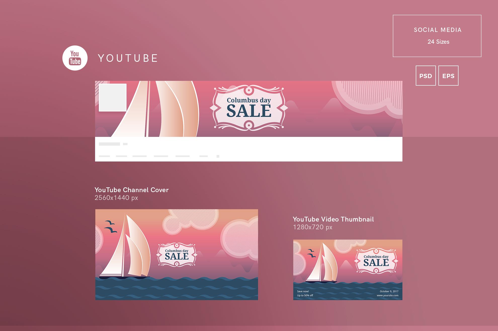 Columbus Day Sale Design Templates Bundle example image 7