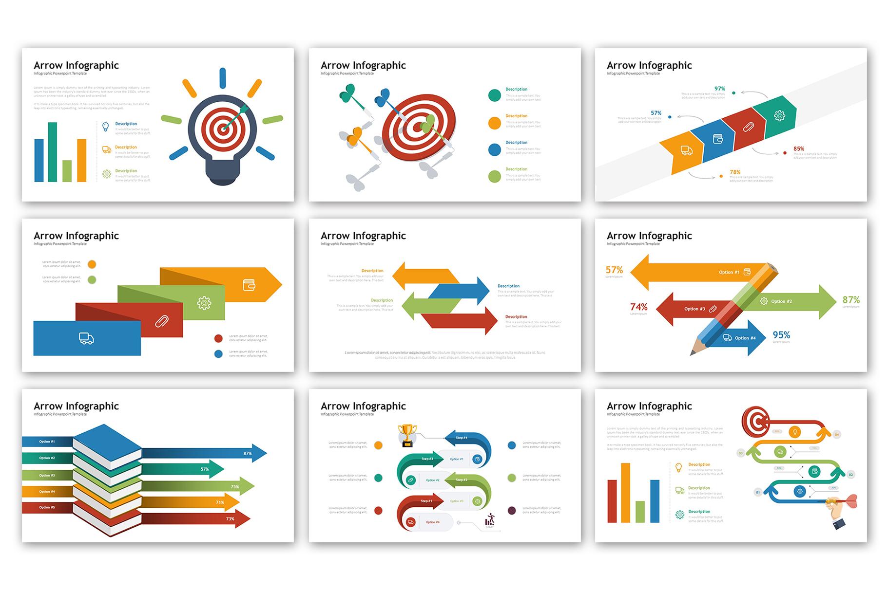 Arrow Presentation - Infographic Template example image 2