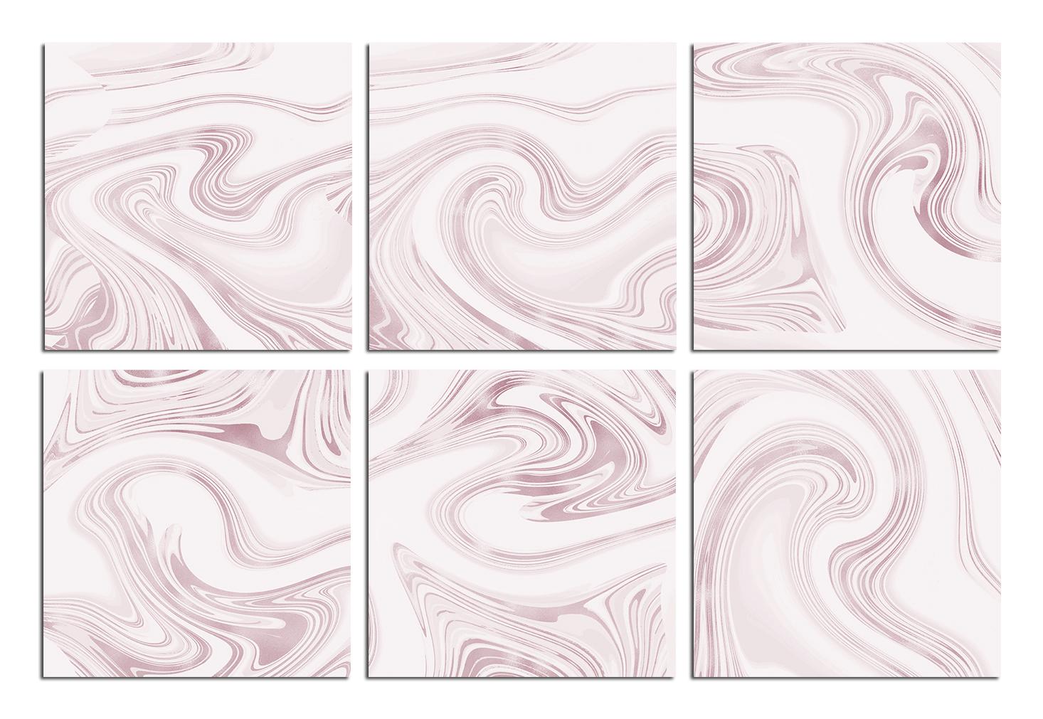 Rose Marble Digital Paper BUNDLE example image 7
