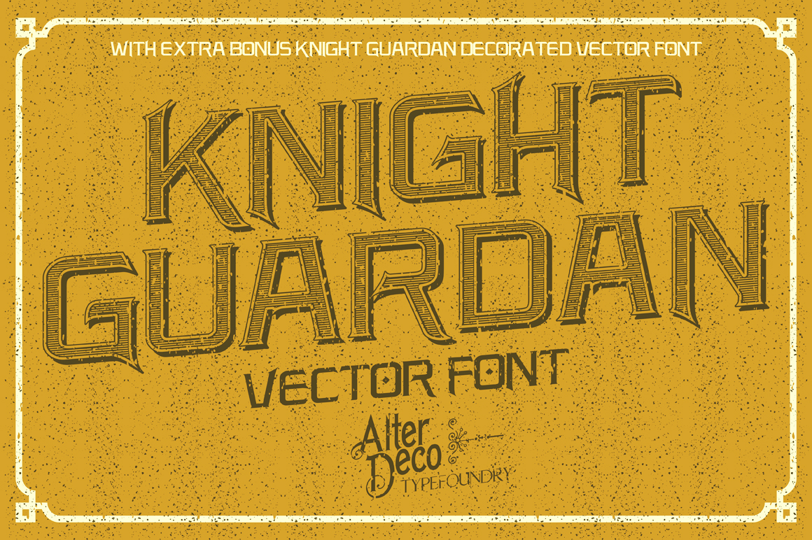 Knight Guardan font + BONUS example image 3