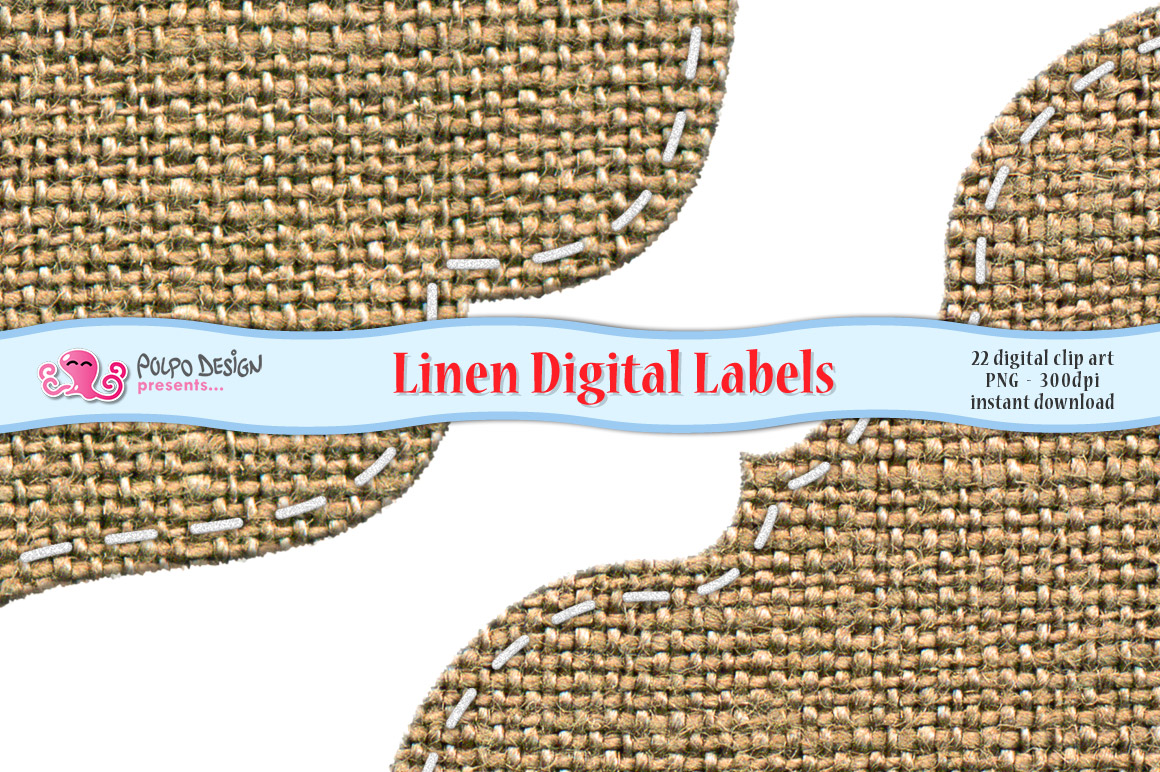 Linen Digital Labels example image 2