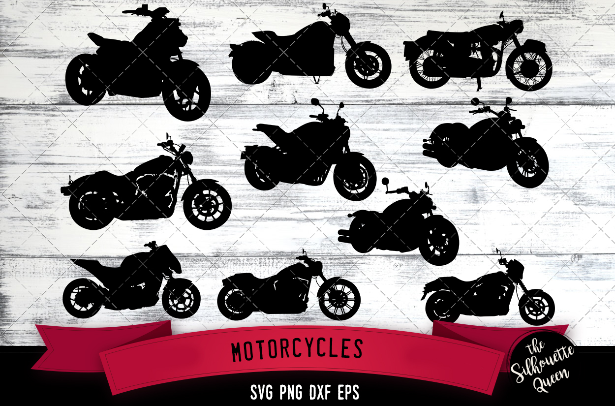 Motorcycle svg file, motorbike svg cut file example image 1