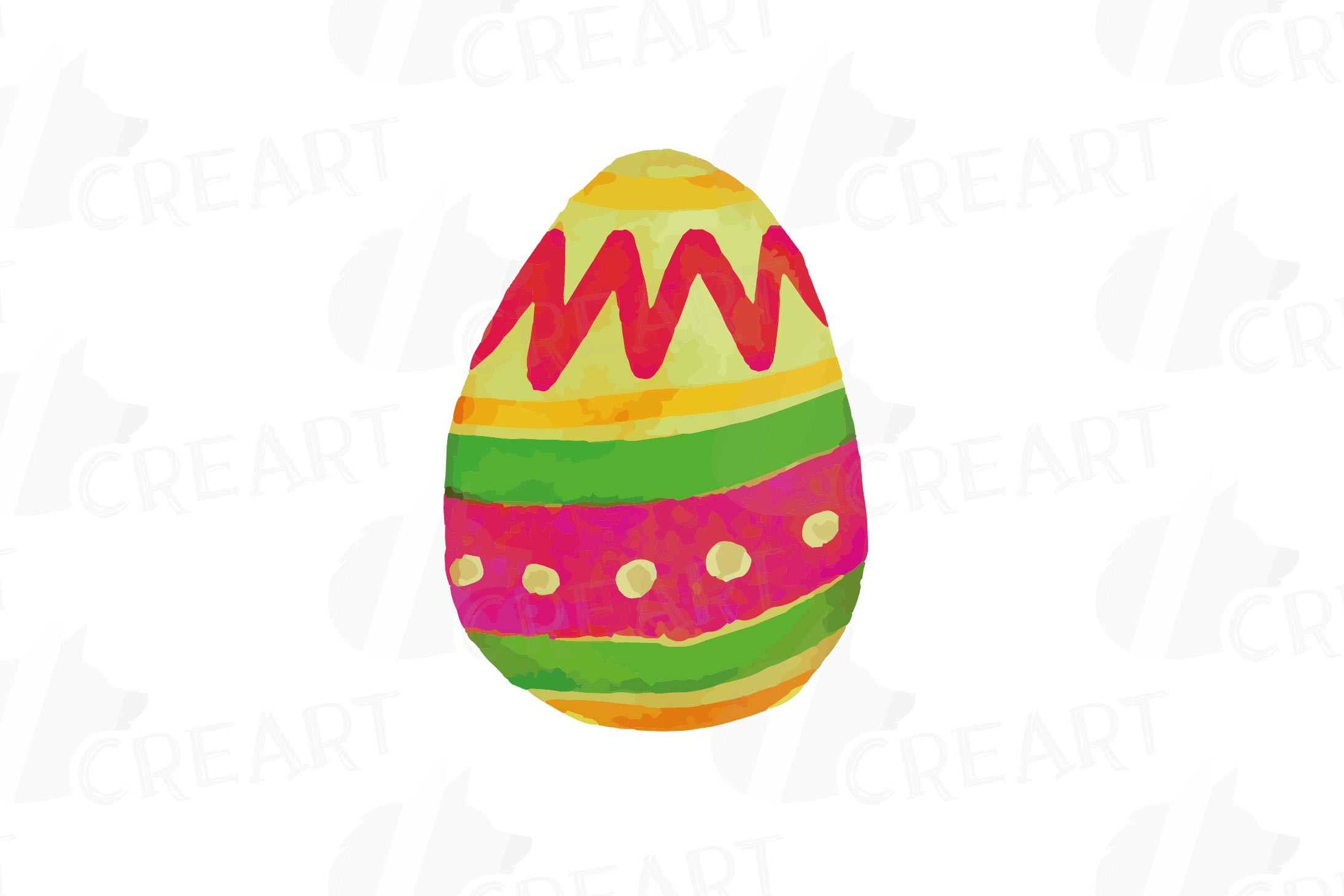 Colorful Easter elements clip art pack, printable hand drawn example image 5