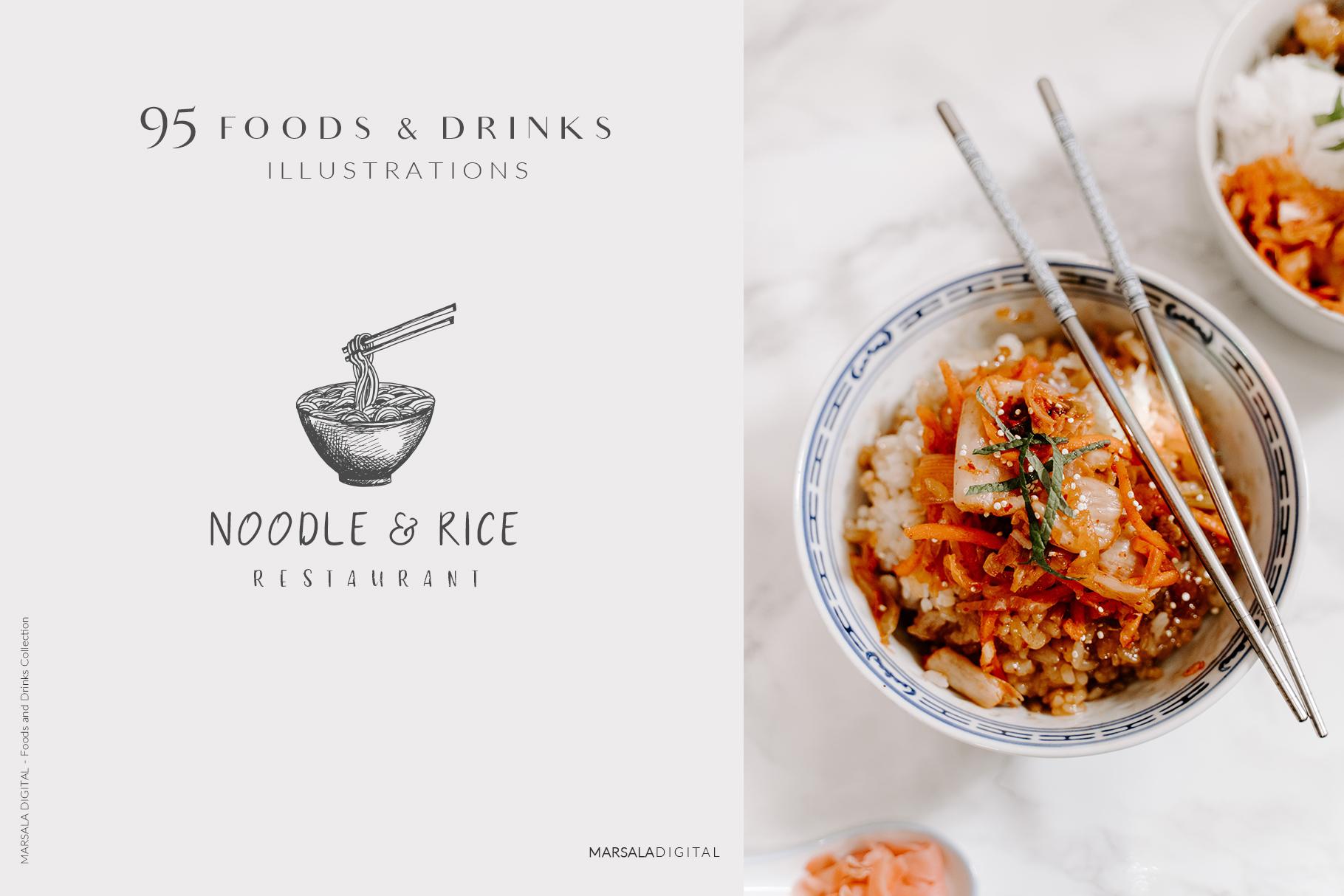 Foods & Drinks Logo Elements Handrawn Graphics example image 7