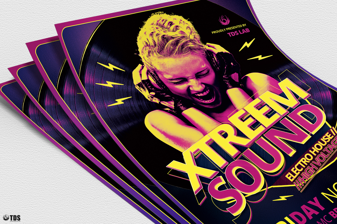 Xtreem Sound Flyer Template example image 5
