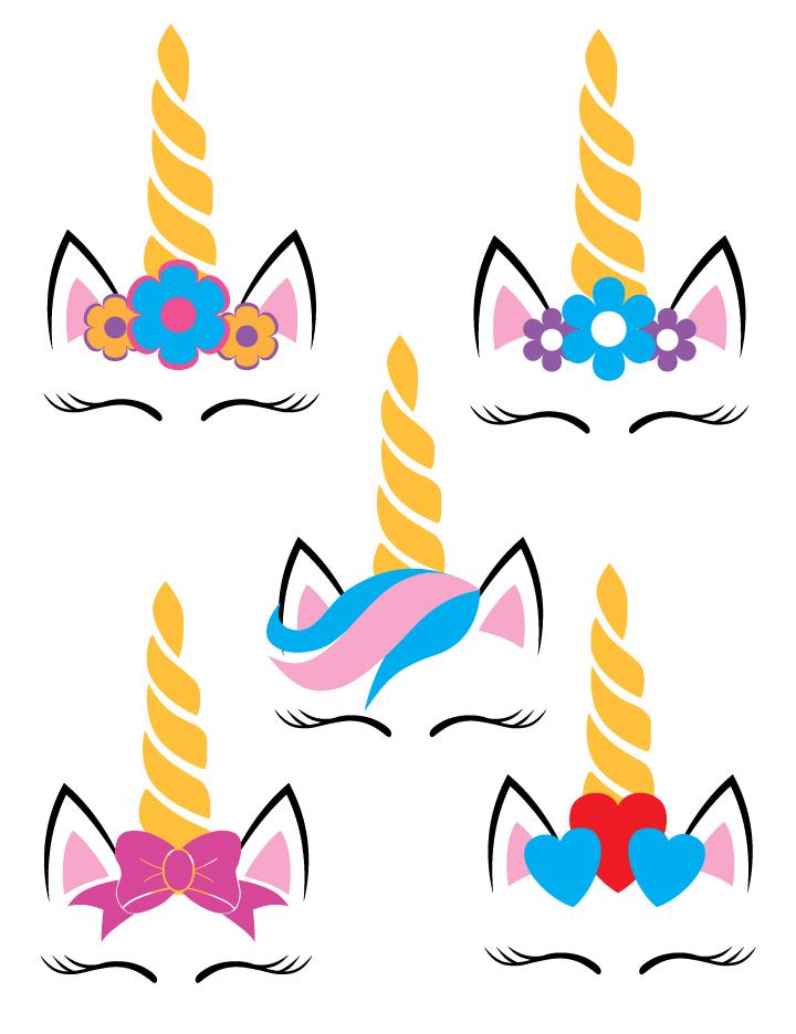 Five Unicorns SVG example image 2