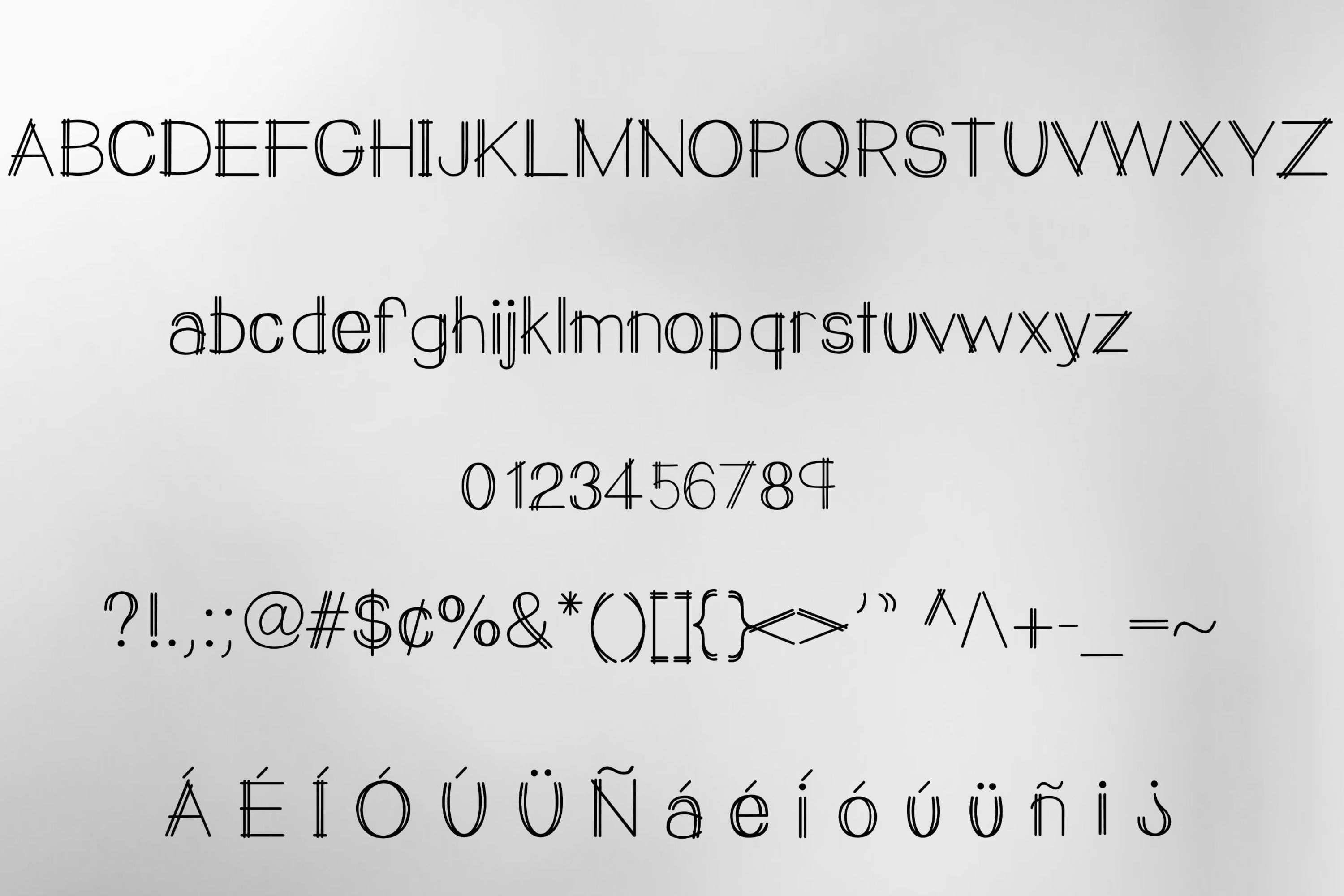 Double Vision- A modern handwritten print font example image 2