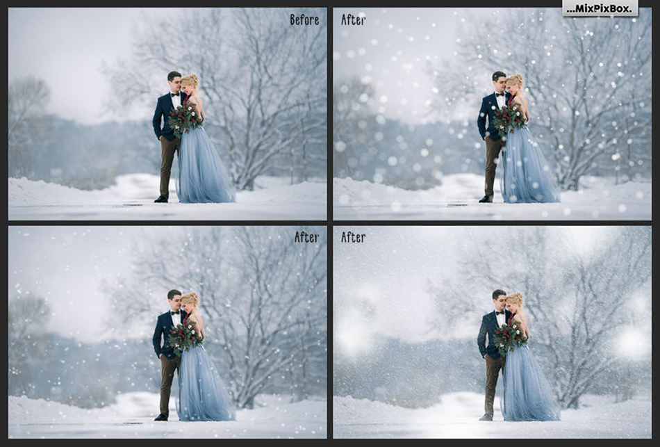 Falling Snow Overlays example image 2