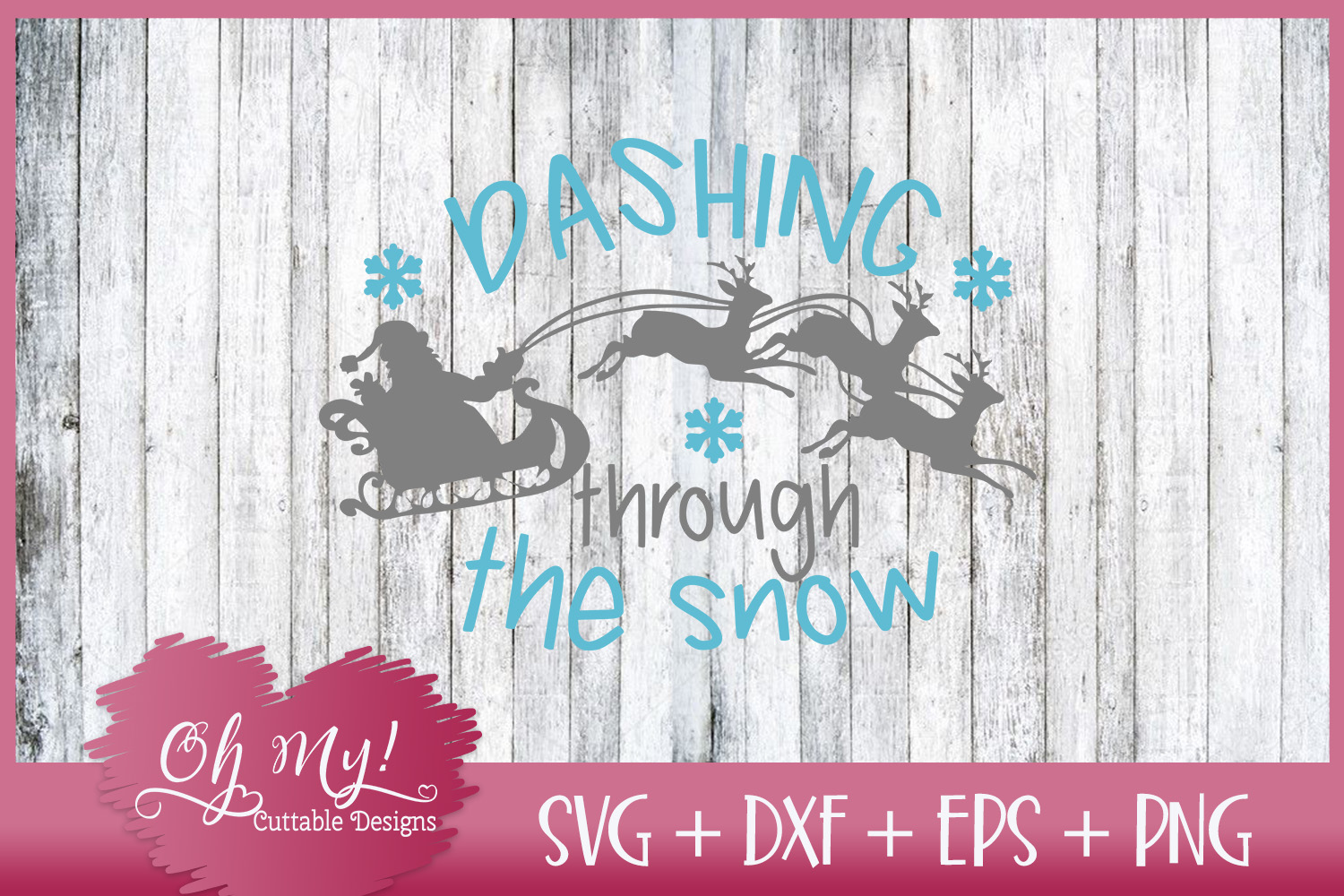 Dashing Through The Snow - SVG EPS DXF Cutting File example image 5