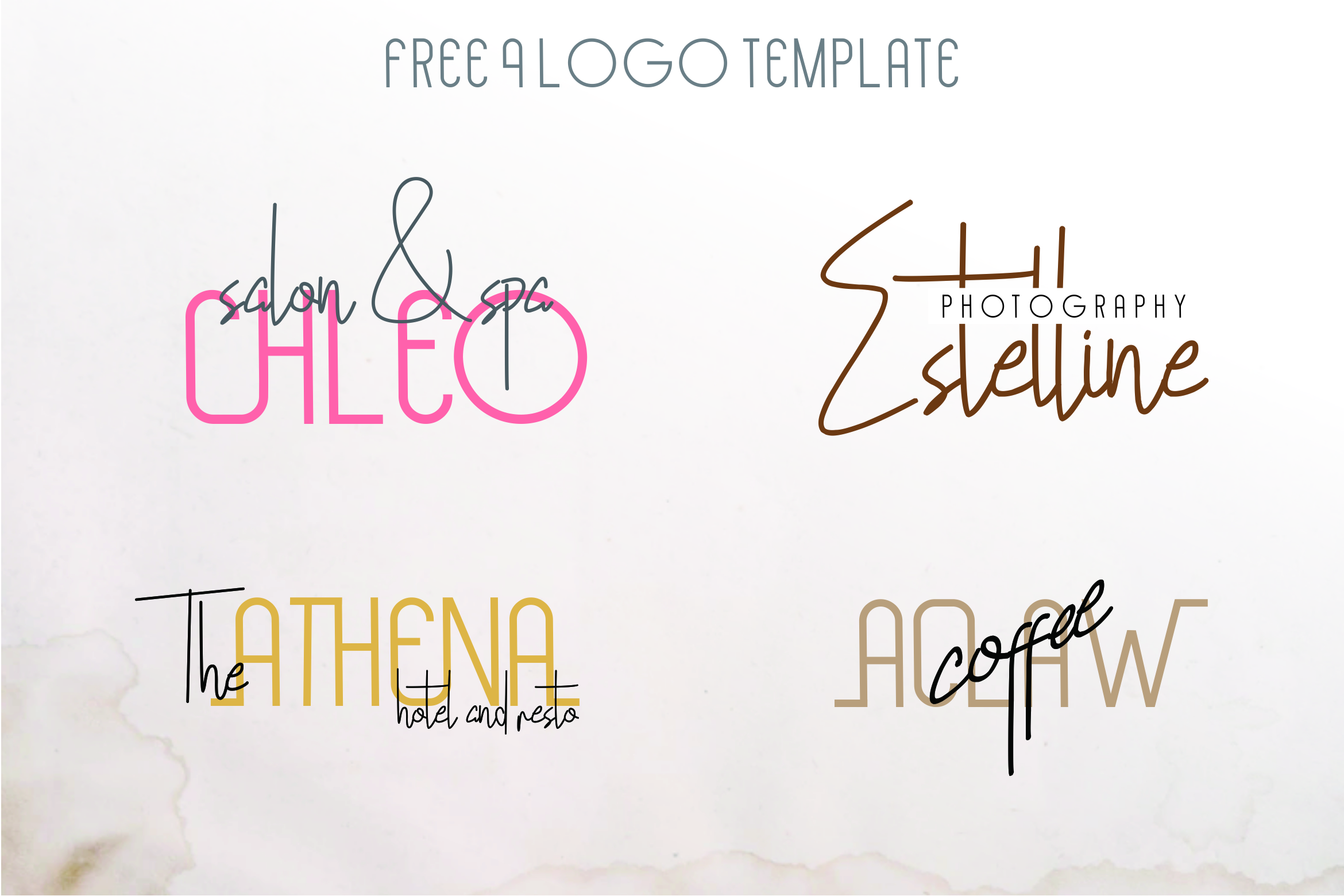Hollen Amare Font Duo - free logo template example image 2