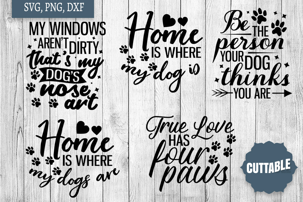Dog lover cut file Bundle, Dog quote SVGs, 15 Dog quote SVGs example image 4