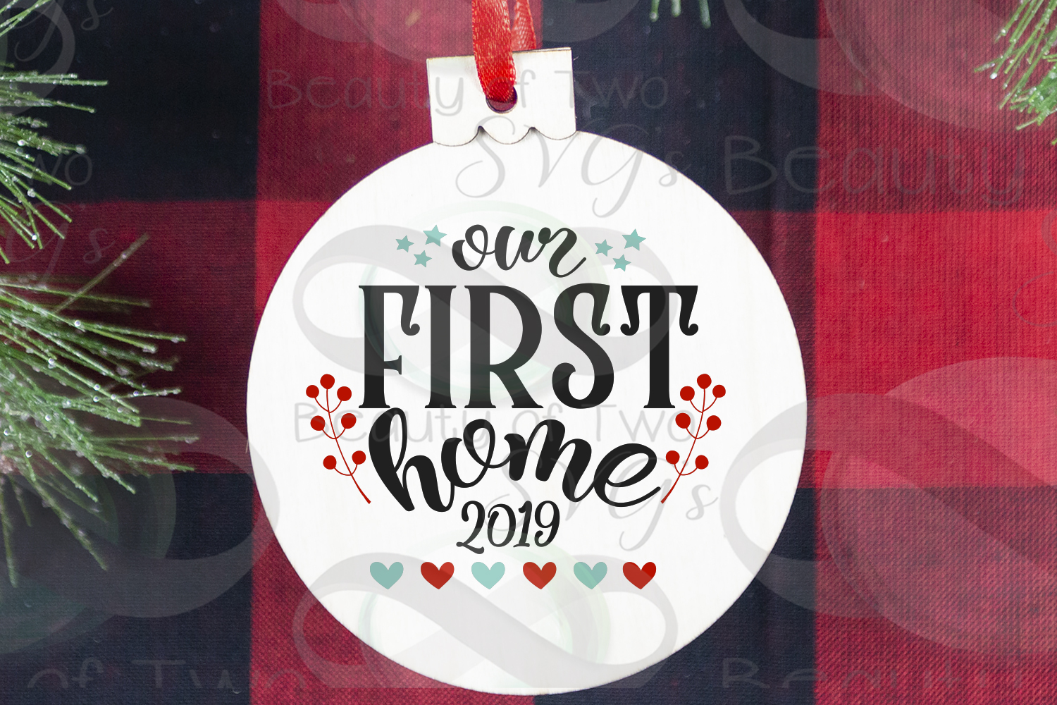 Christmas Ornament Our first Home 2019 svg, Realtor svg example image 2