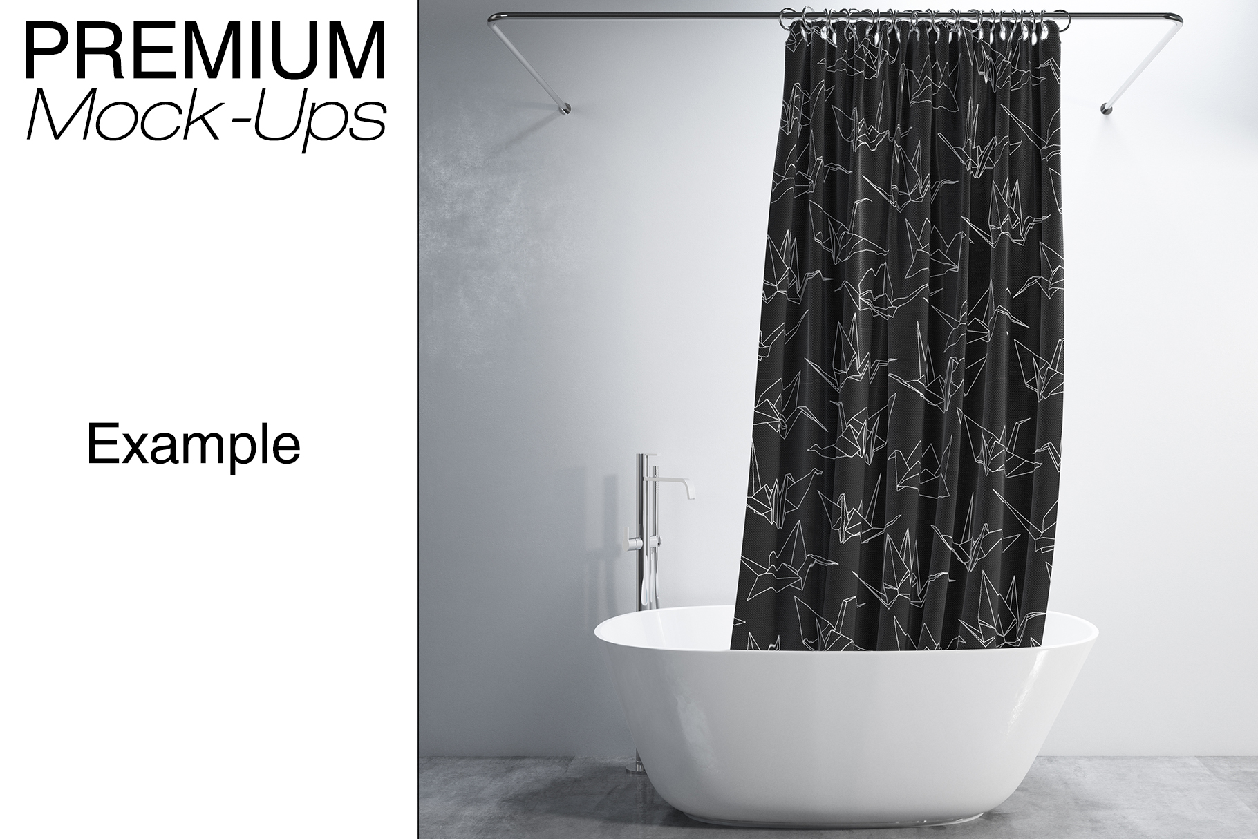 Bath Curtain Mockups example image 10
