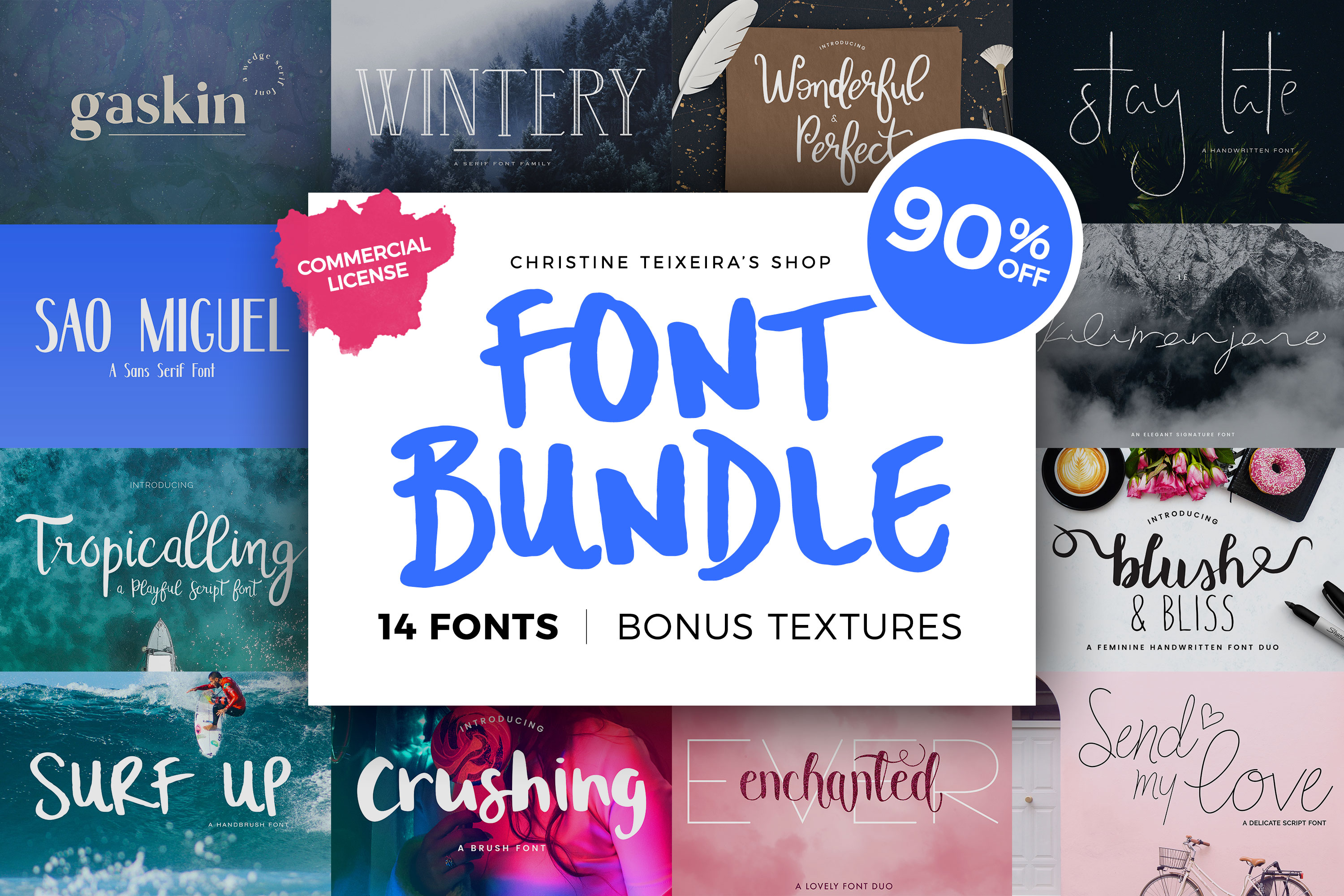 Christine Teixeira Shop Font Bundle example image 1