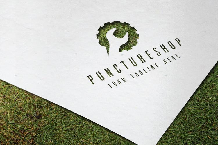 Puncture Mechanic Shop Logo example image 3