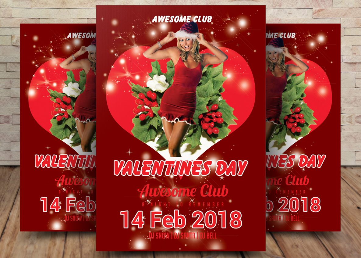 Valentines Day Flyer Template Example Image 1