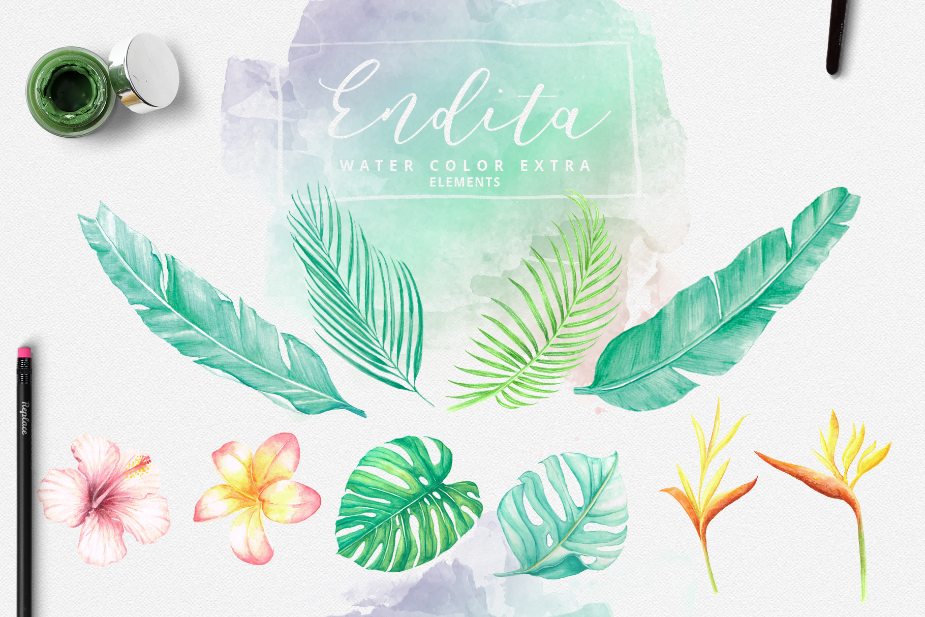 Endita Handwritten Font and Extras example image 10