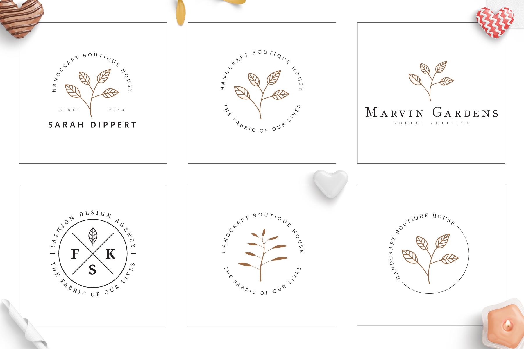 70 Elegant Floral Logo Bundle example image 11