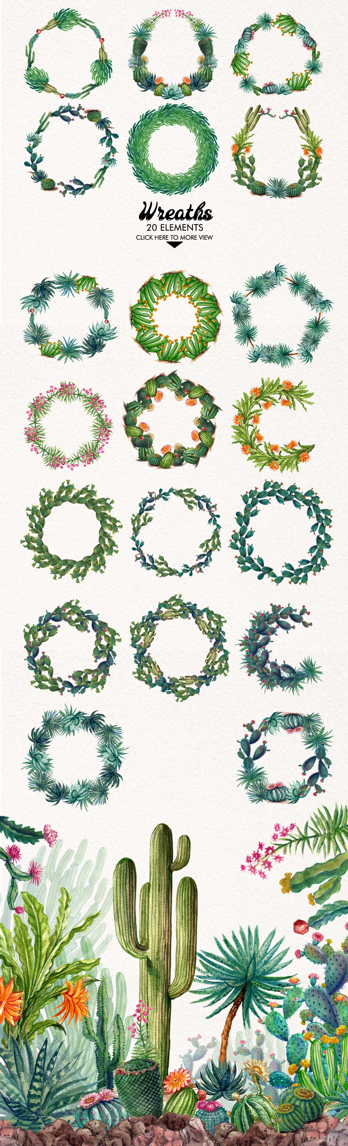 Watercolor Cactuses example image 5
